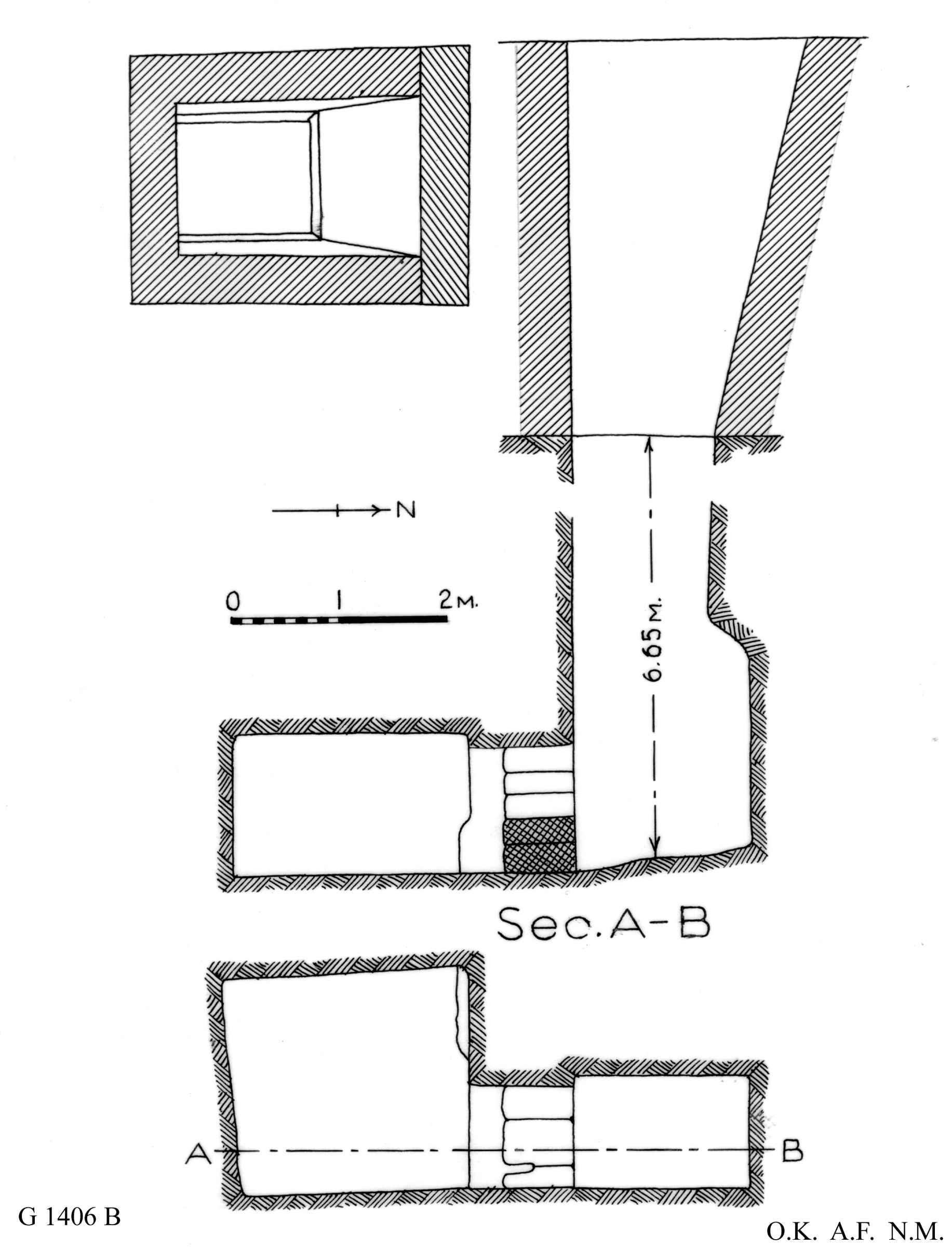 Maps and plans: G 1406, Shaft B