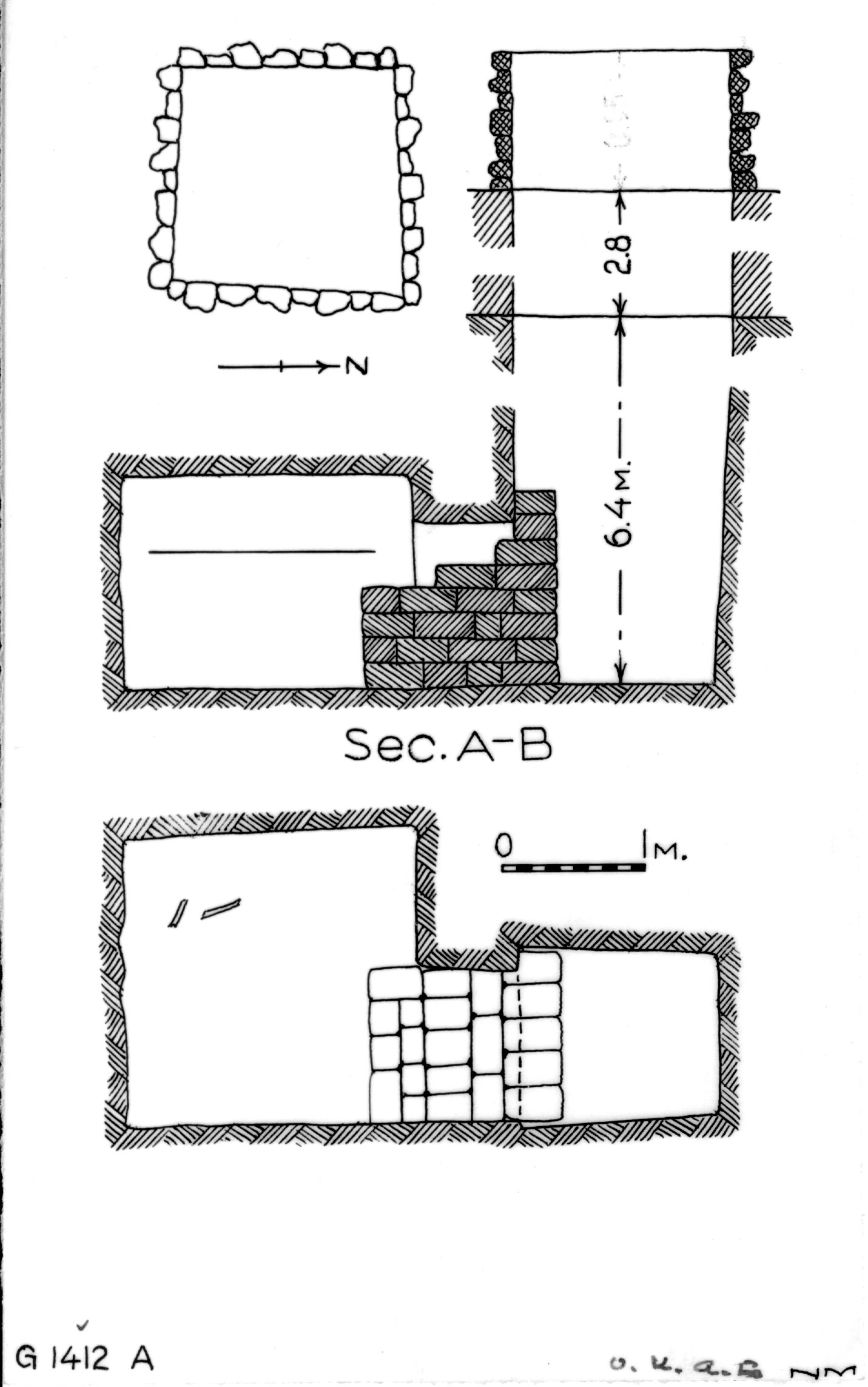 Maps and plans: G 1412, Shaft A