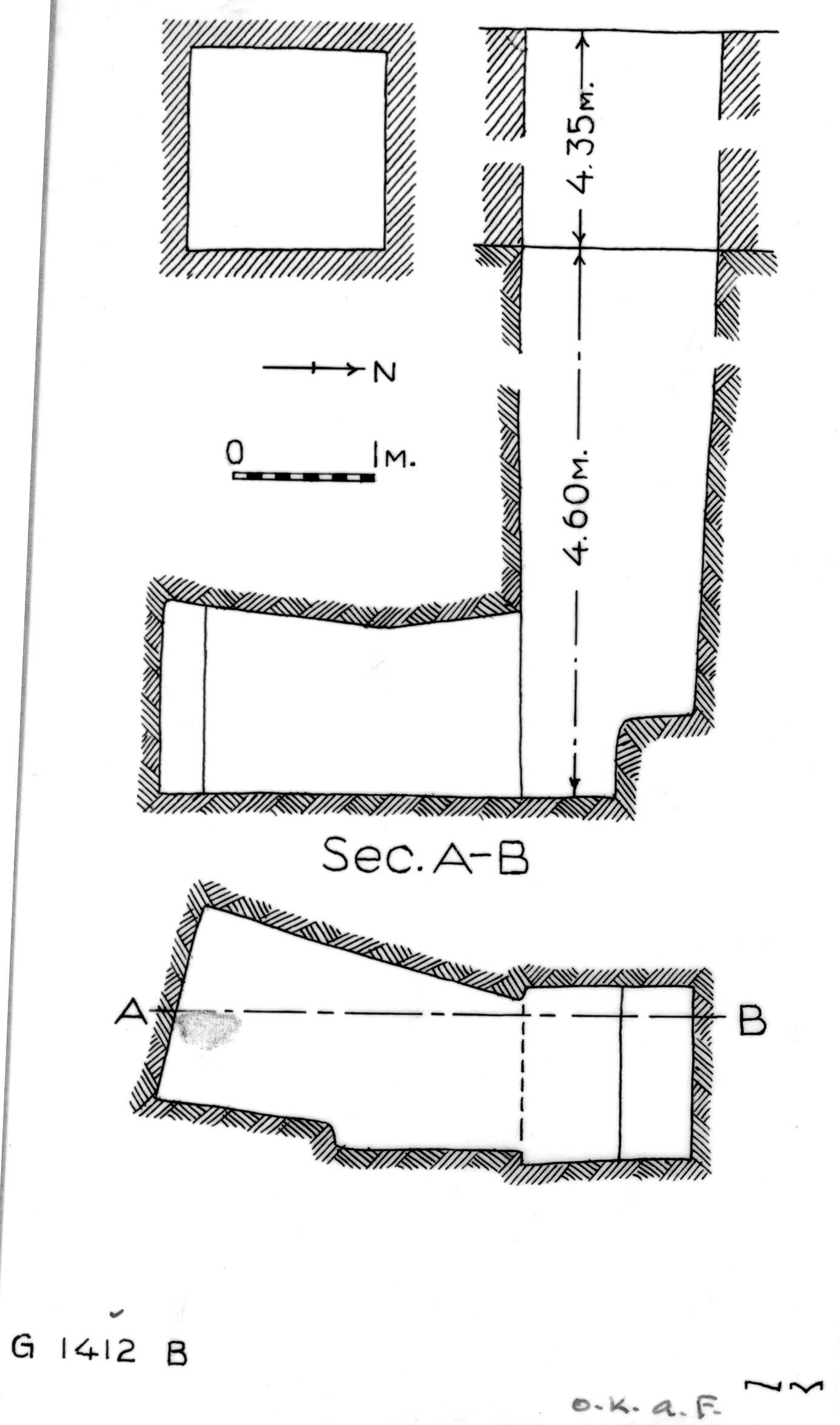 Maps and plans: G 1412, Shaft B