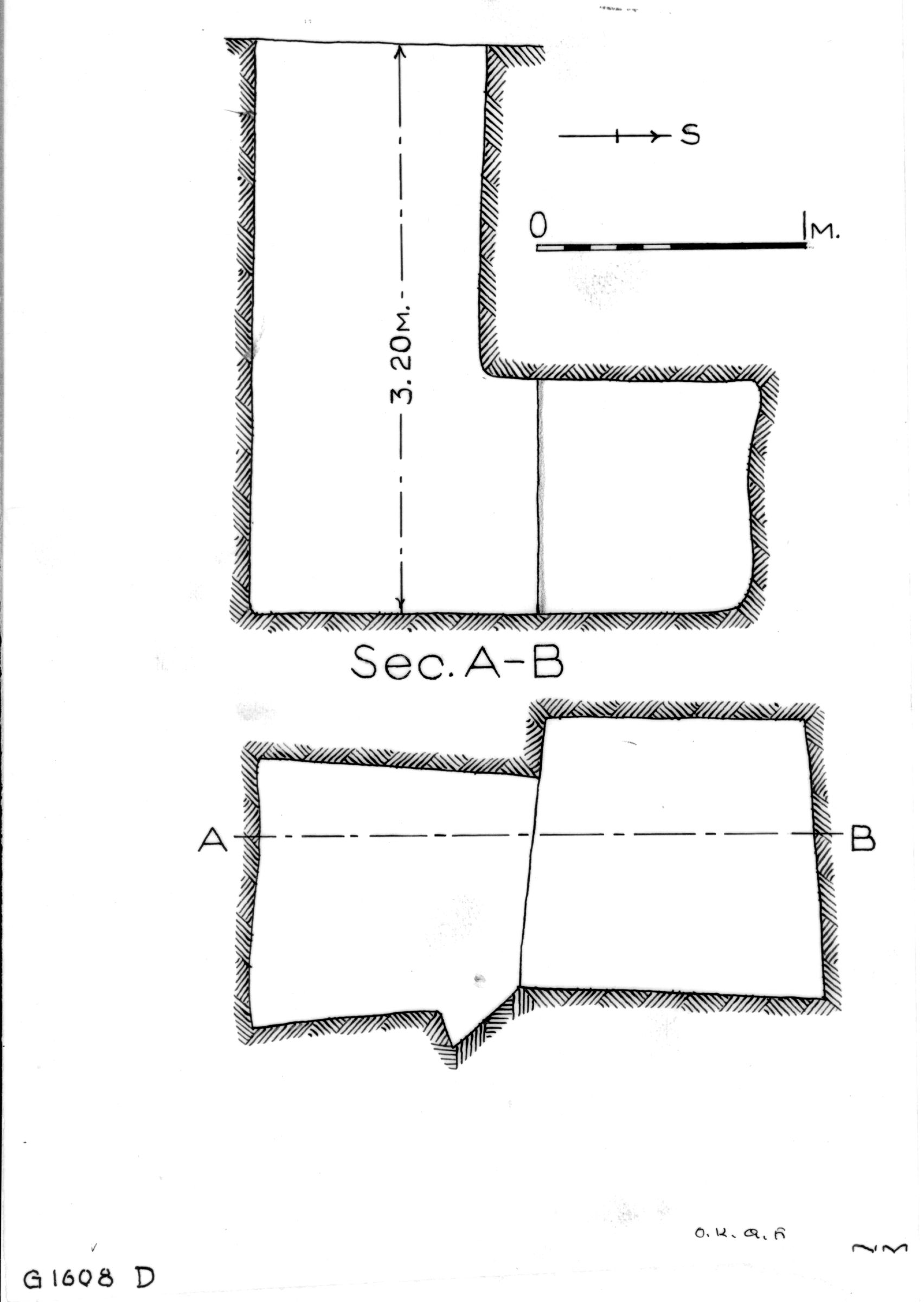 Maps and plans: G 1608, Shaft D
