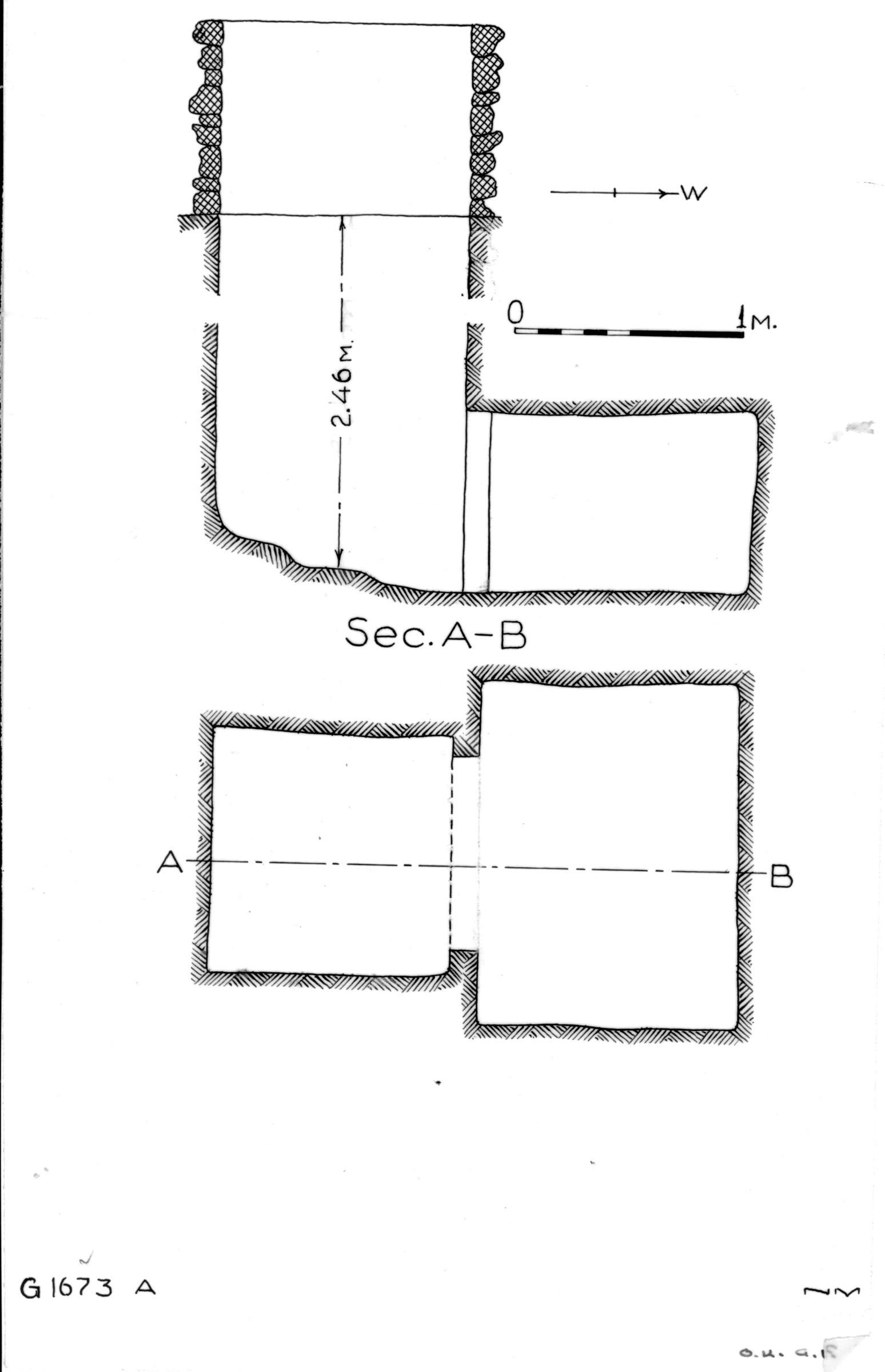 Maps and plans: G 1673, Shaft A