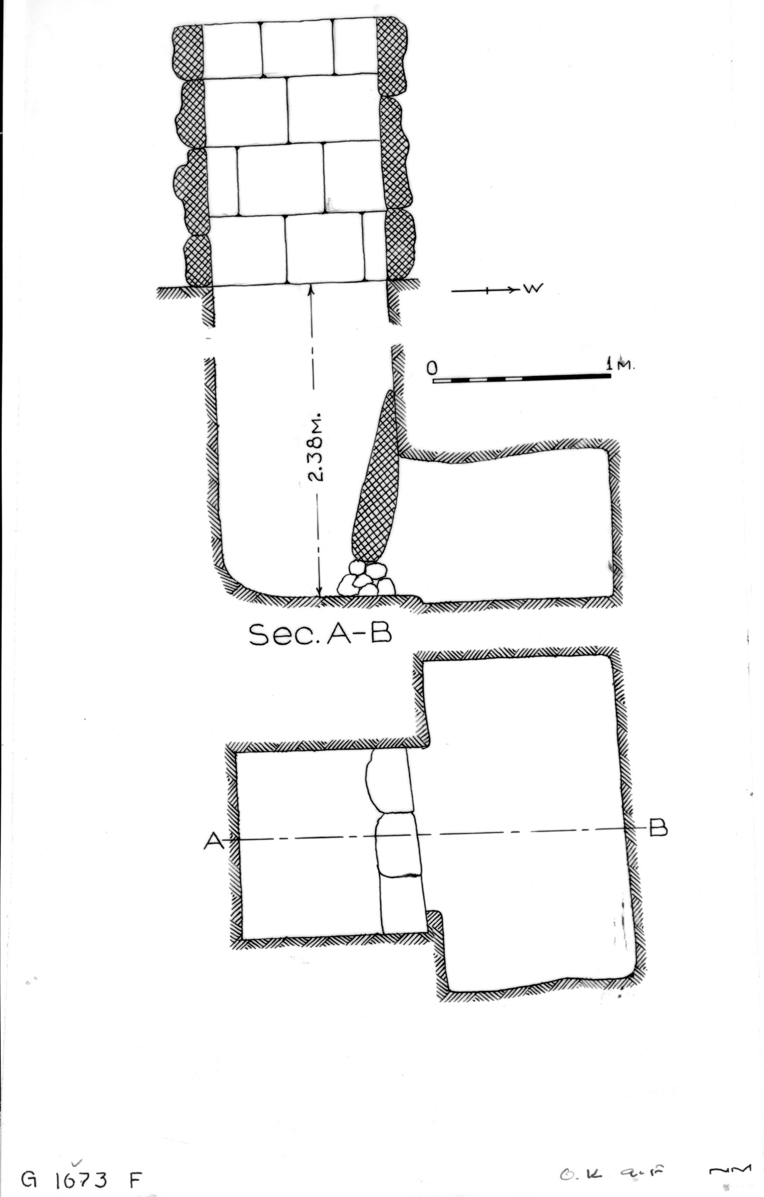 Maps and plans: G 1673, Shaft F