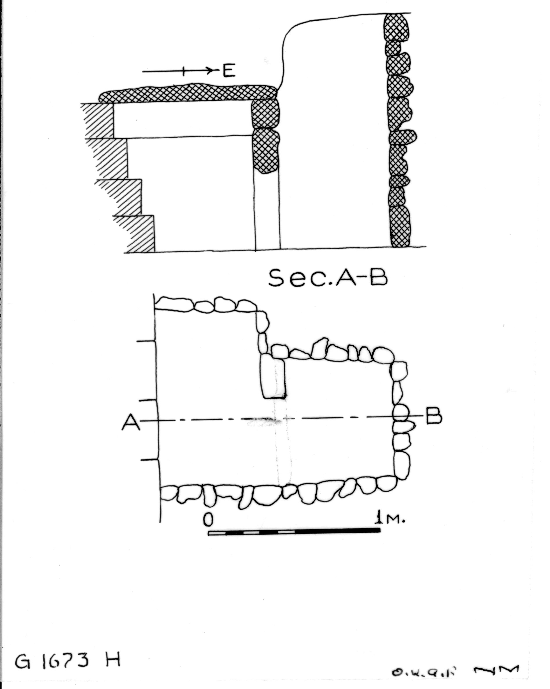 Maps and plans: G 1673, Shaft H