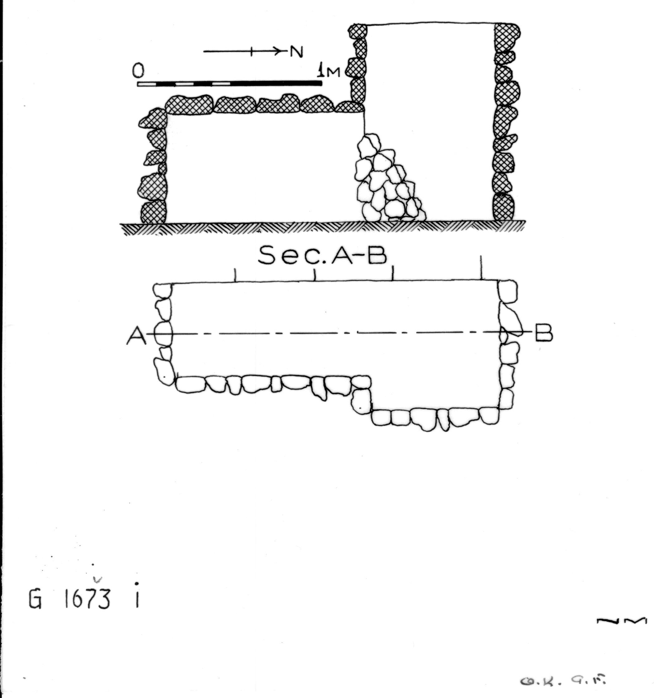 Maps and plans: G 1673, Shaft I
