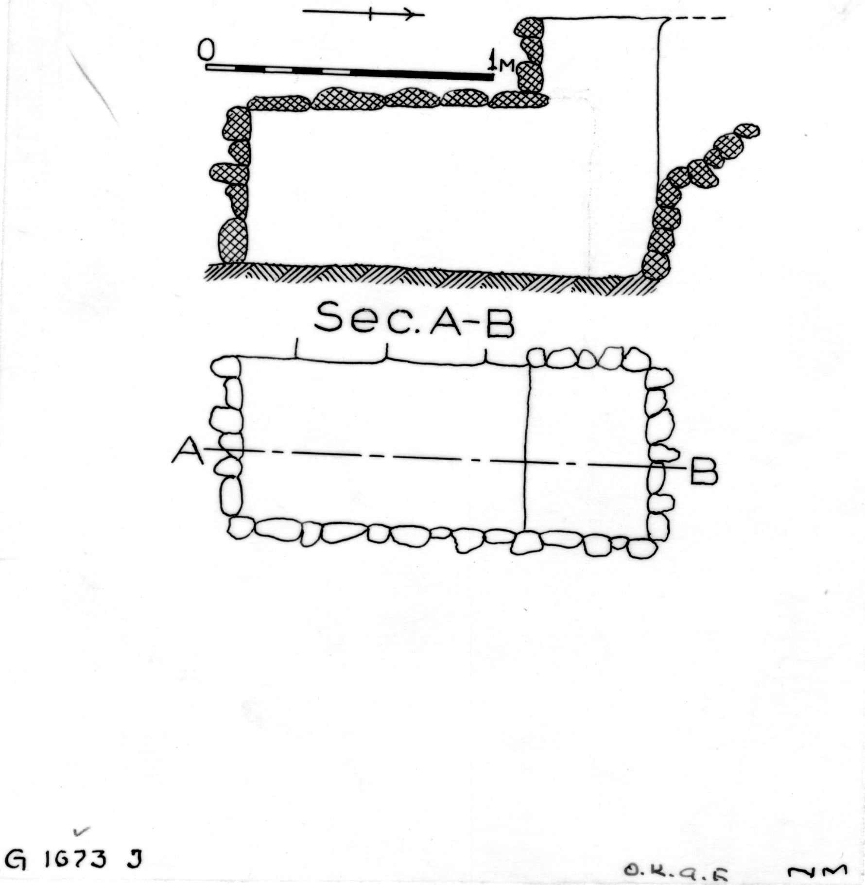 Maps and plans: G 1673, Shaft J