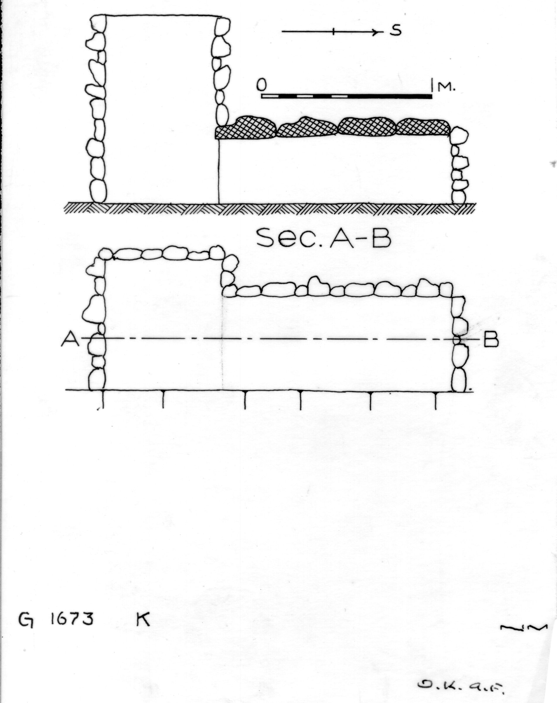 Maps and plans: G 1673, Shaft K