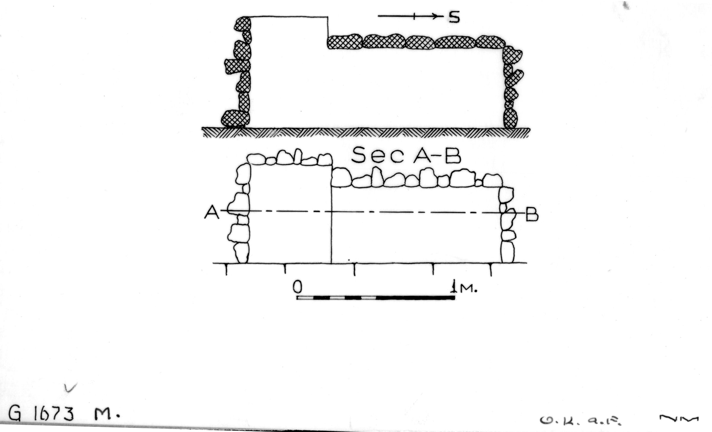 Maps and plans: G 1673, Shaft M