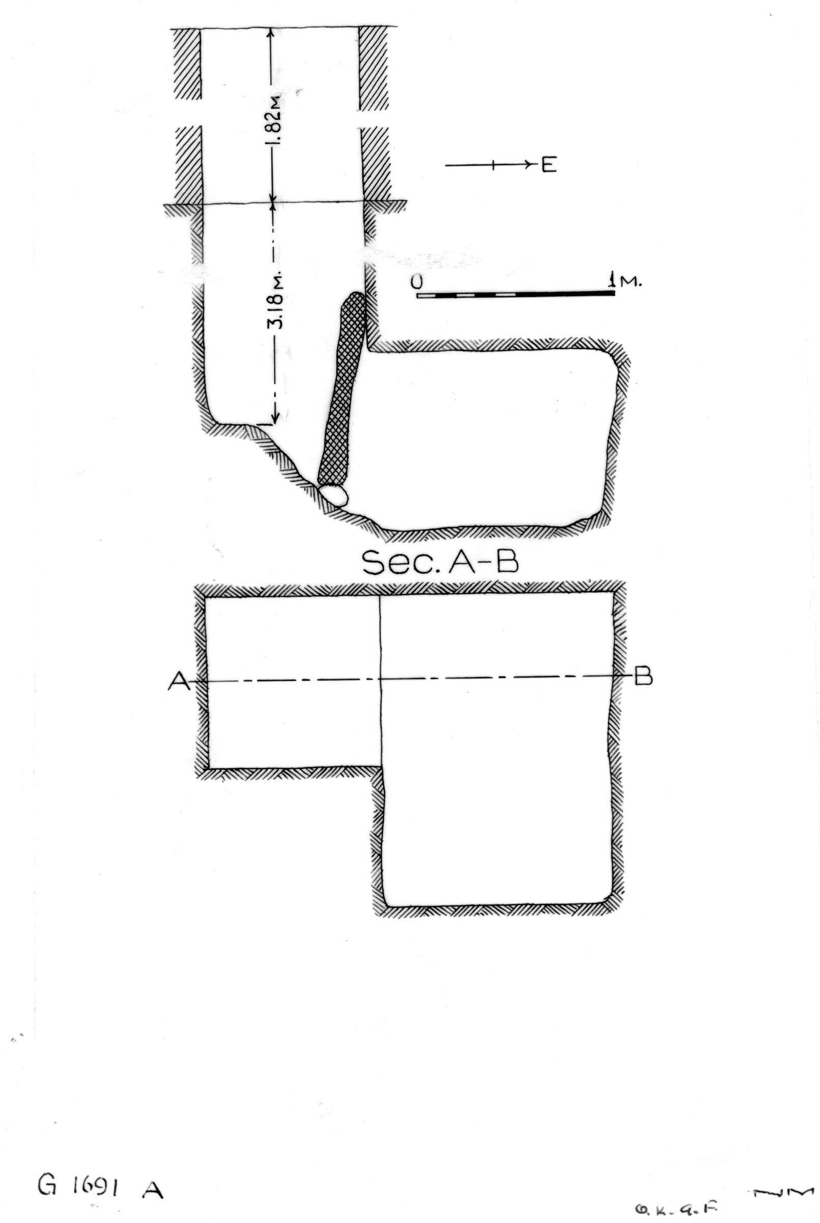 Maps and plans: G 1691, Shaft A