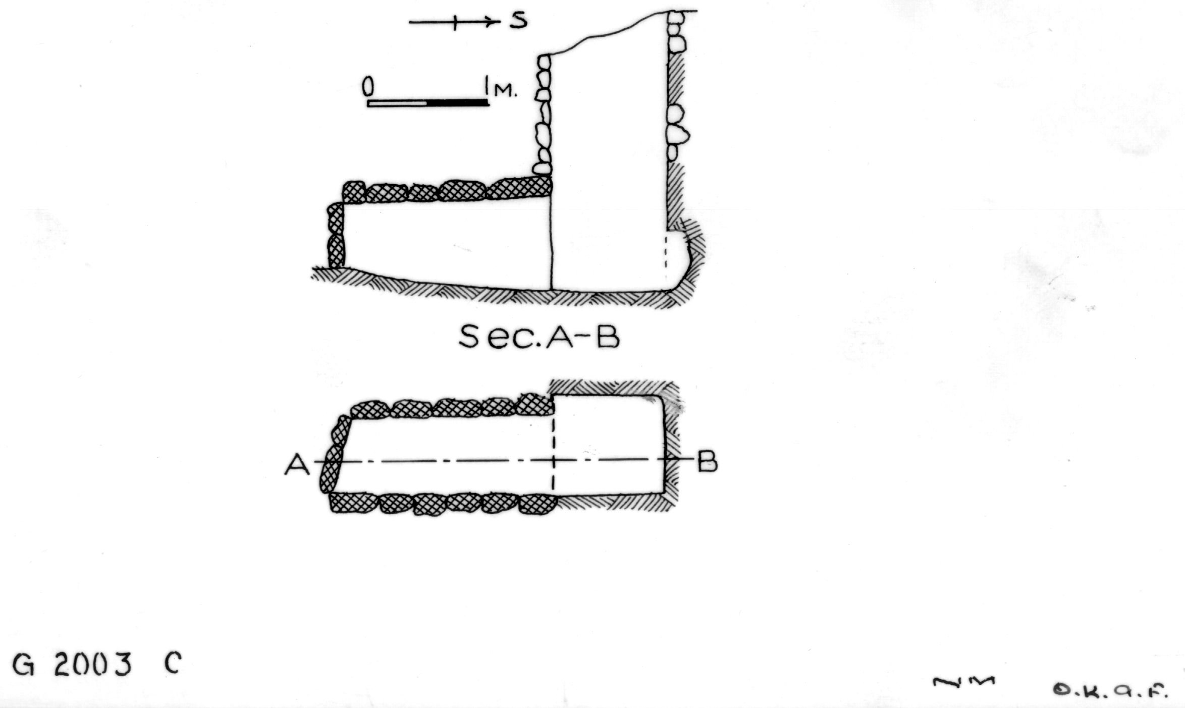 Maps and plans: G 2003, Shaft C