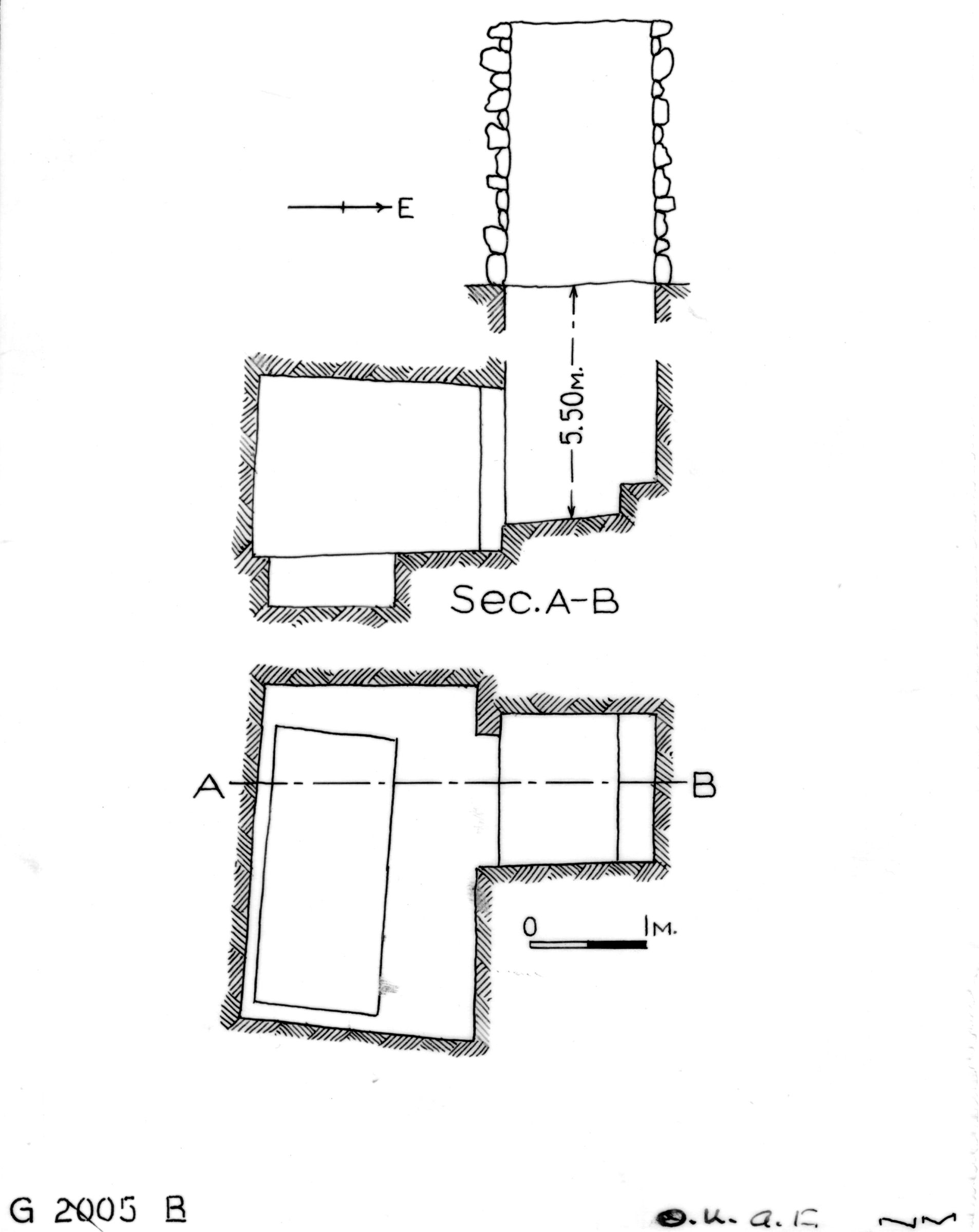 Maps and plans: G 2005, Shaft B