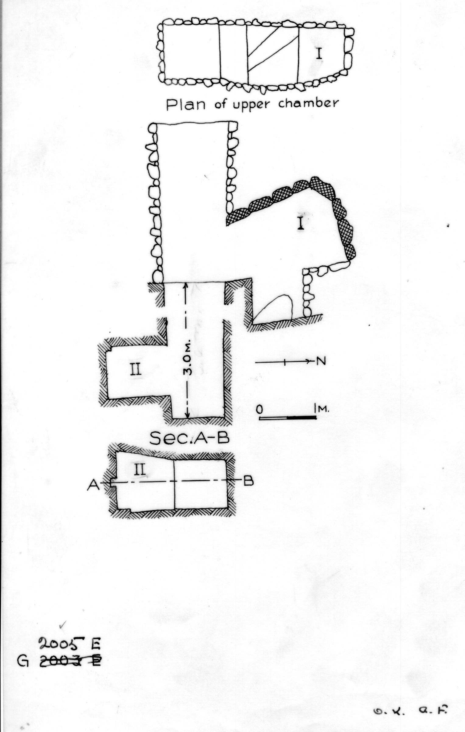 Maps and plans: G 2005, Shaft E