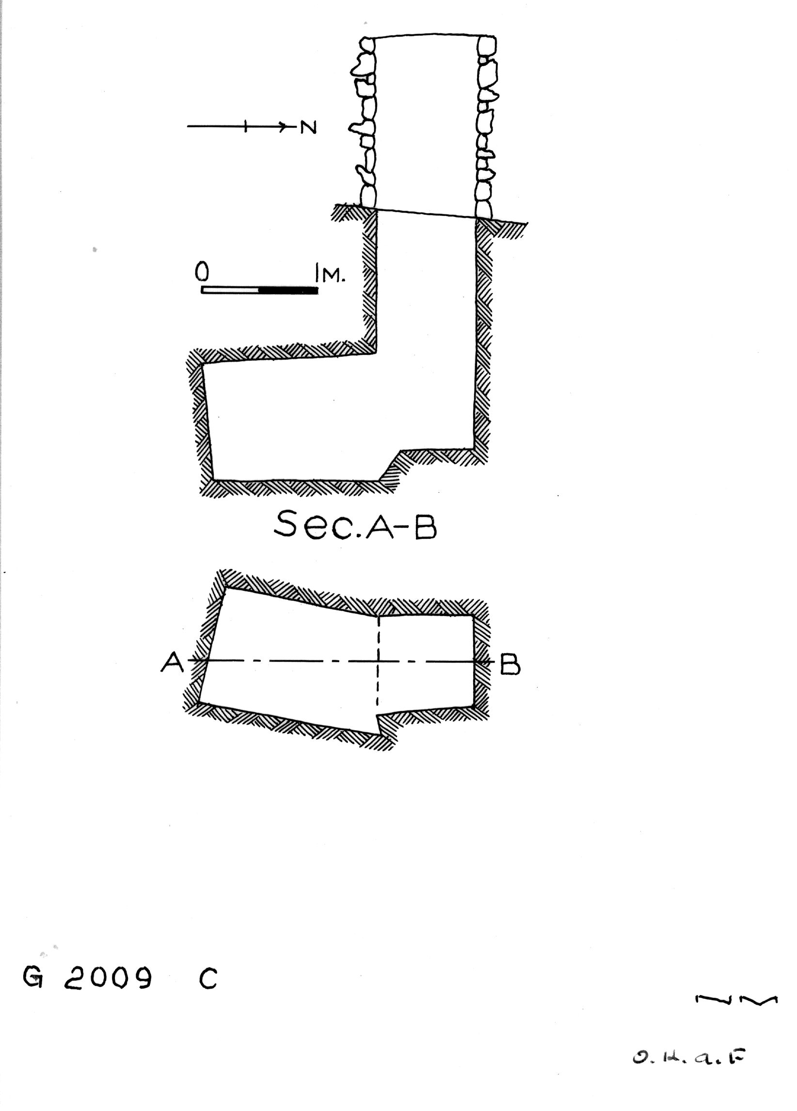 Maps and plans: G 2009, Shaft C
