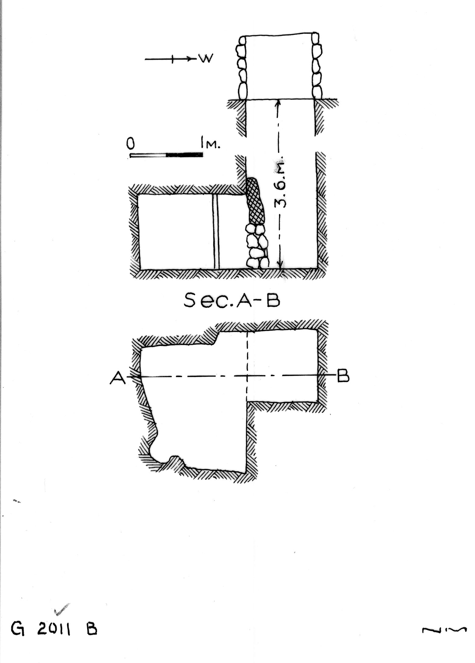 Maps and plans: G 2011, Shaft B