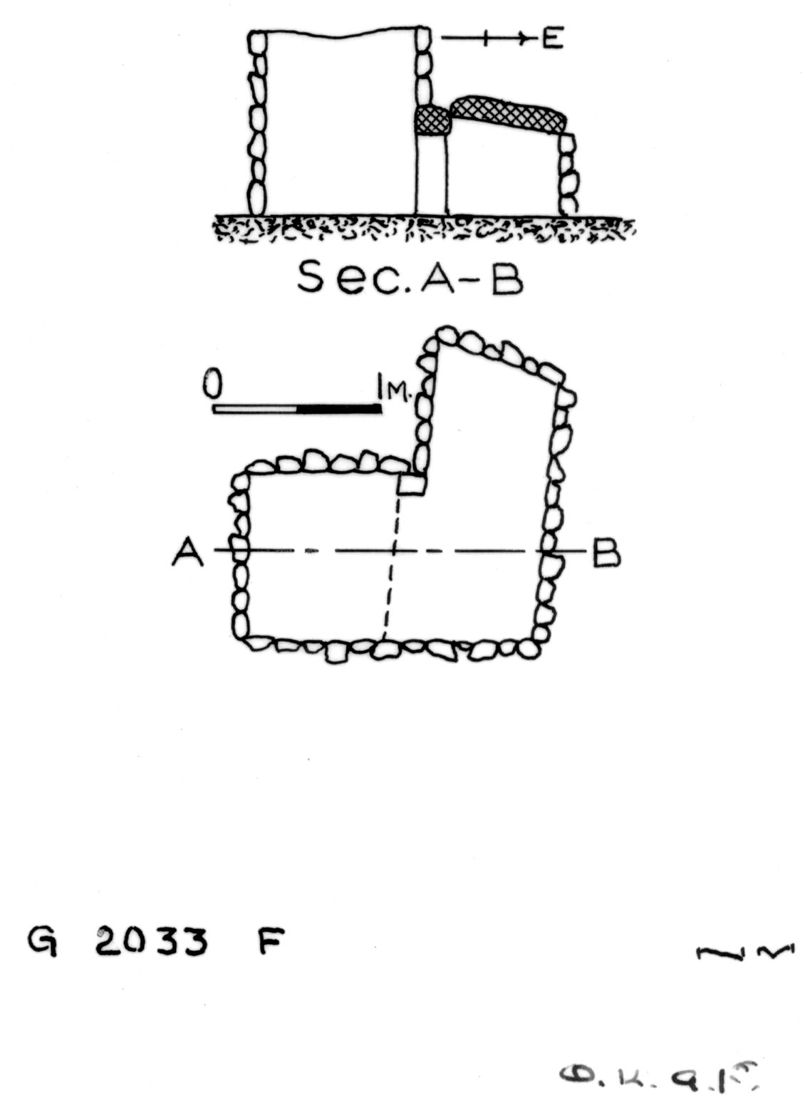 Maps and plans: G 2033, Shaft F