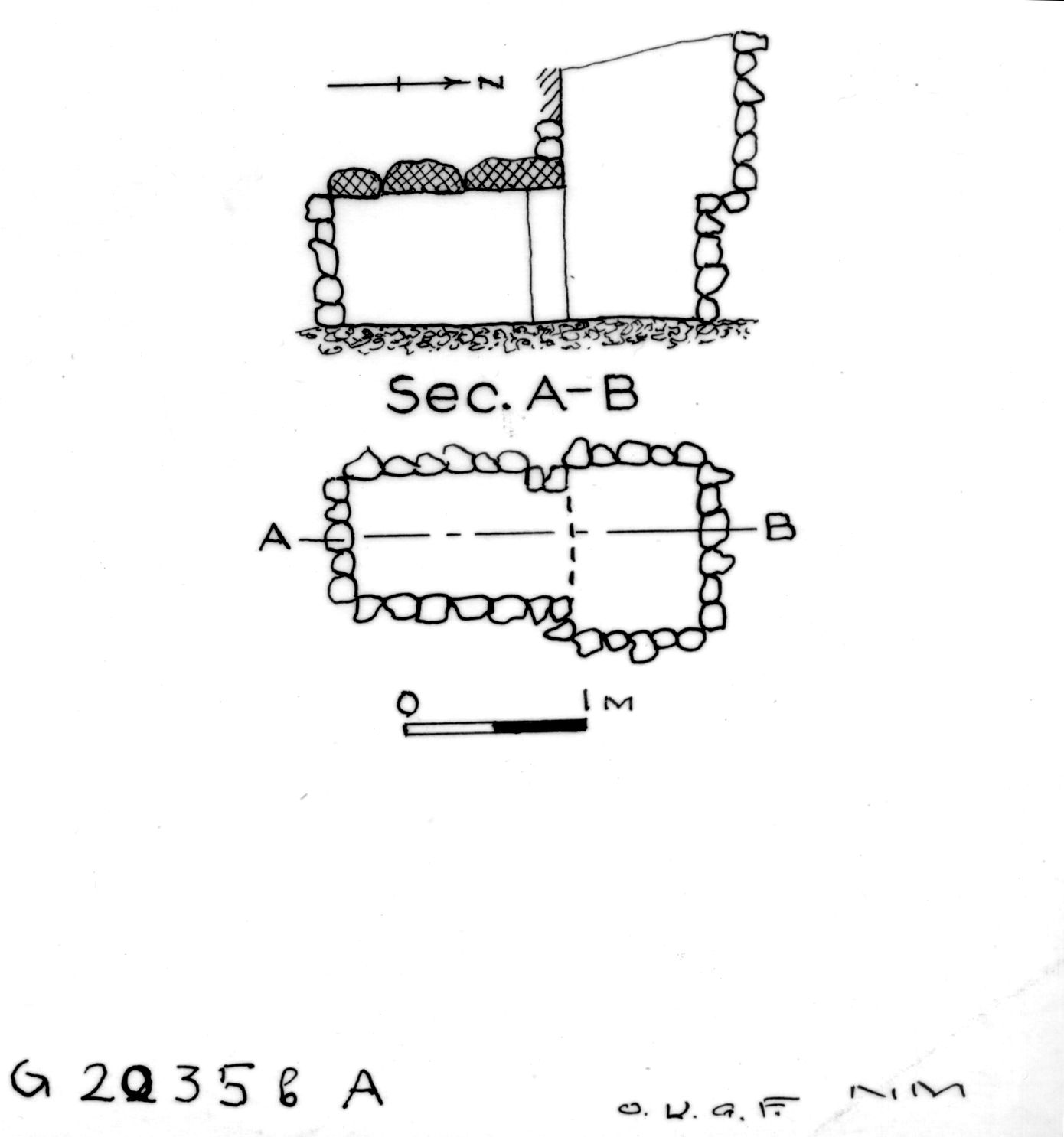 Maps and plans: G 2035b, Shaft A