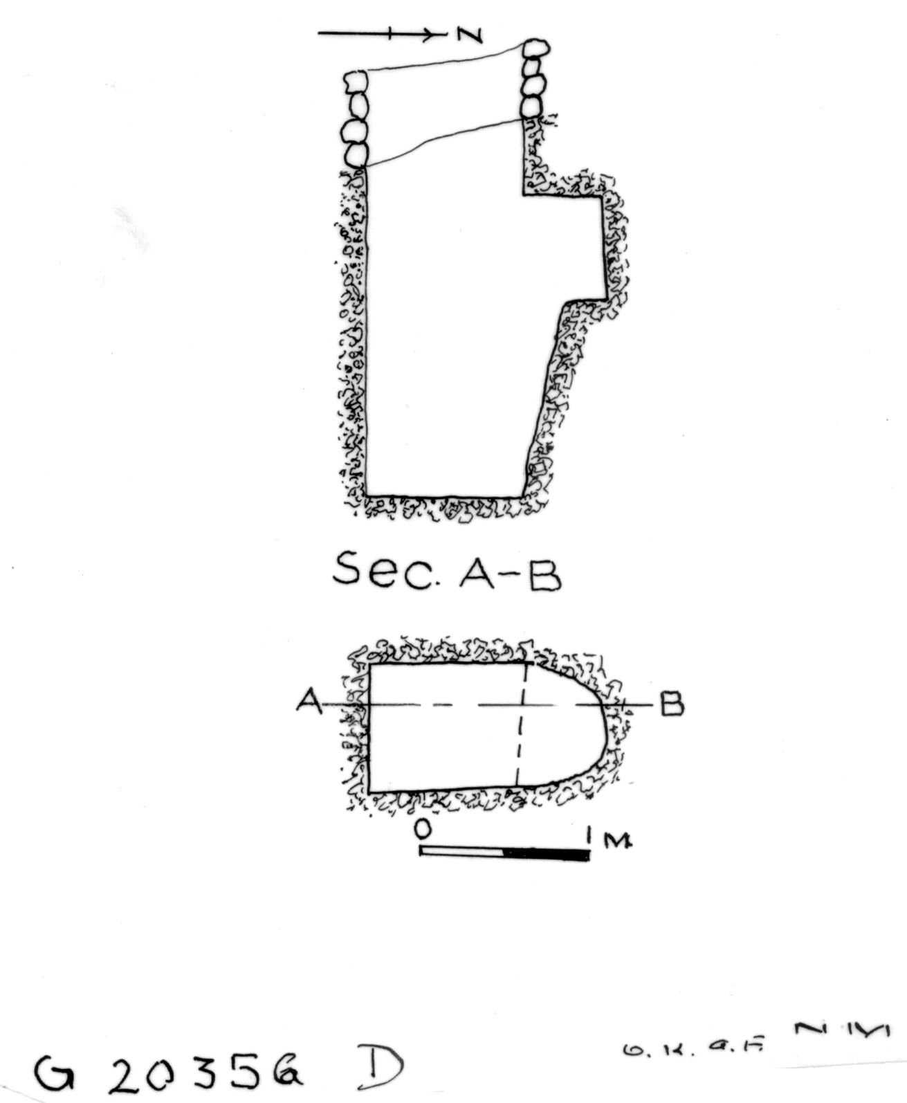 Maps and plans: G 2035b, Shaft D