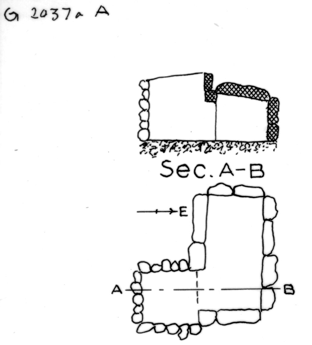 Maps and plans: G 2037a, Shaft A