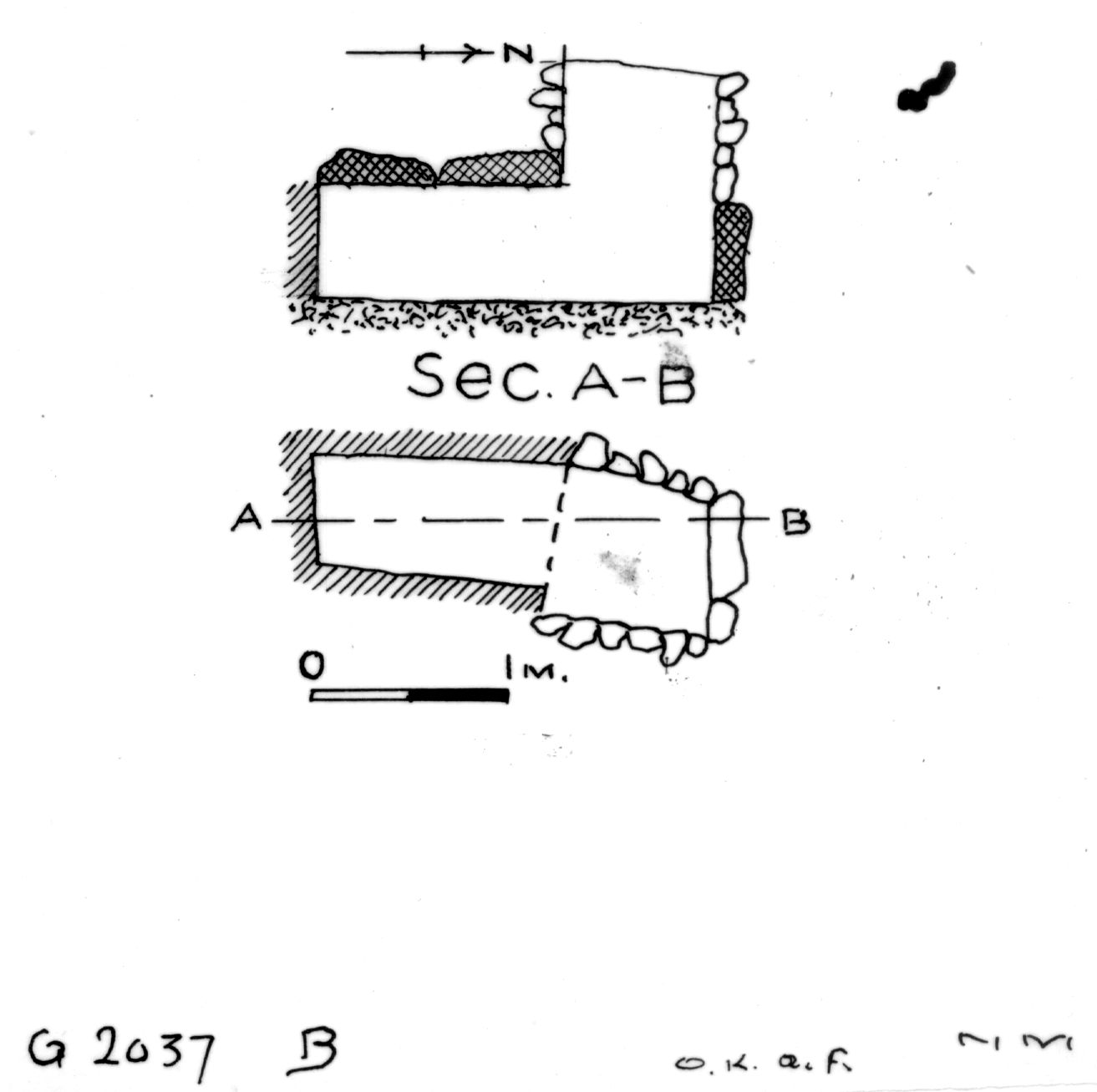 Maps and plans: G 2037a, Shaft B