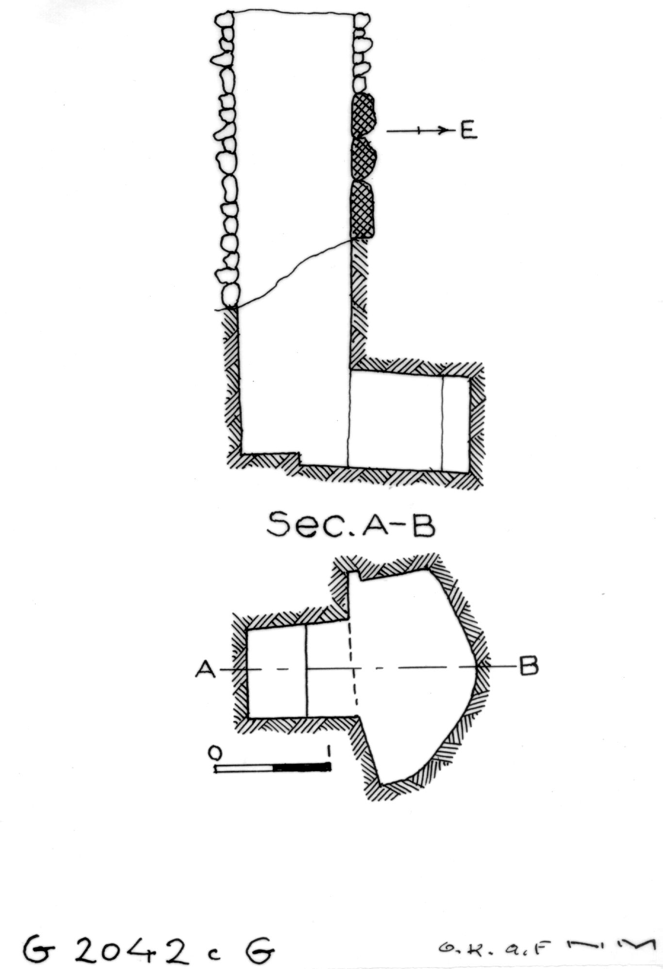 Maps and plans: G 2042c, Shaft G