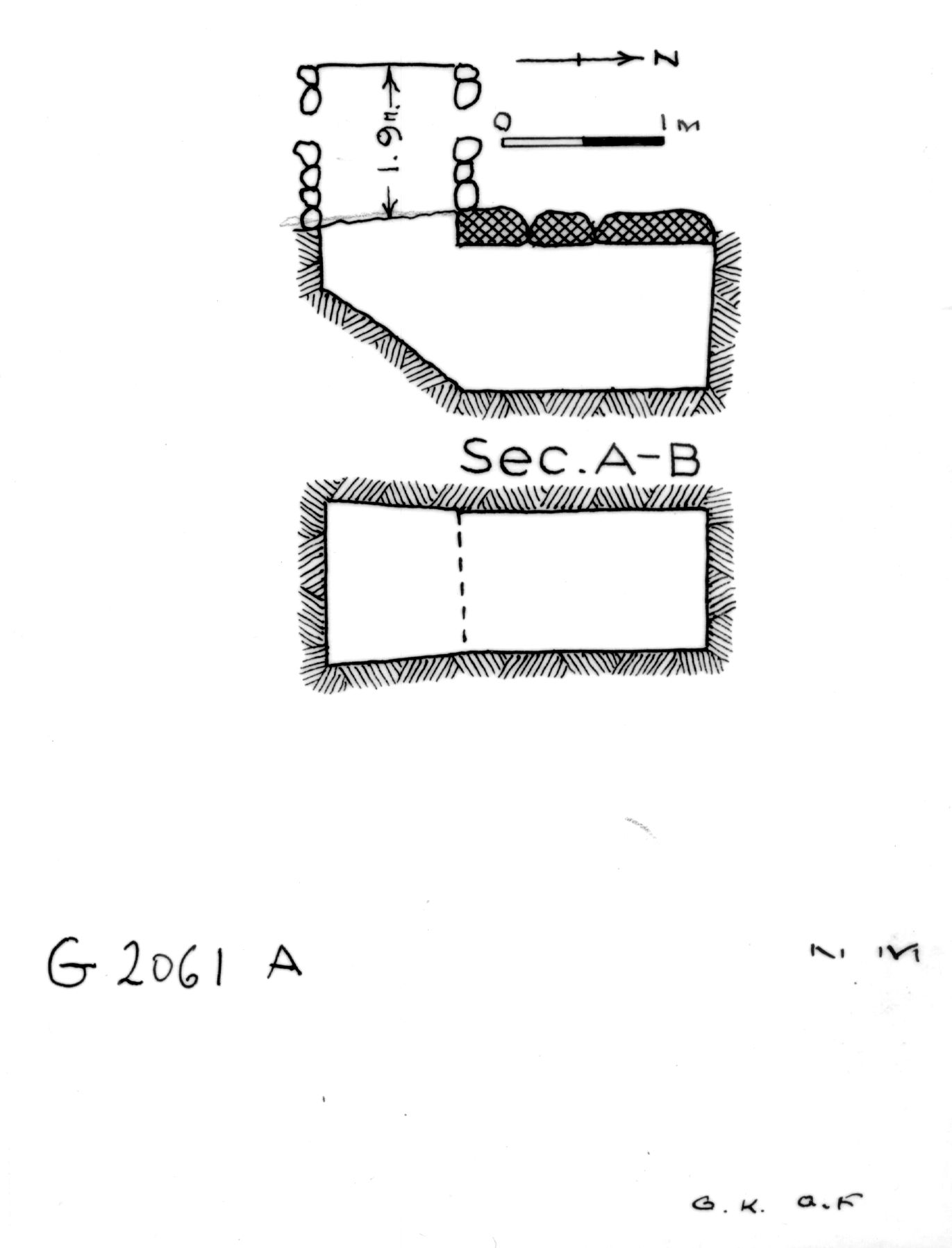 Maps and plans: G 2061, Shaft A