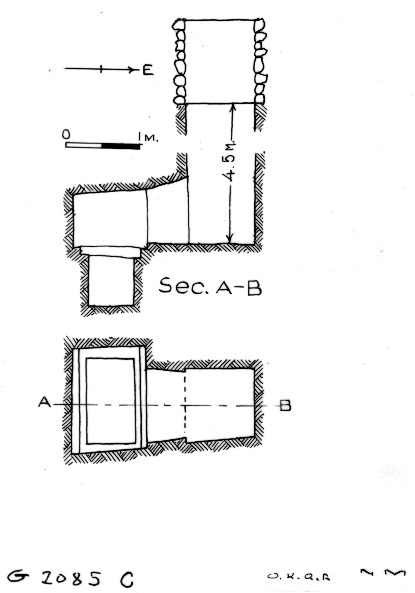 Maps and plans: G 2085, Shaft C