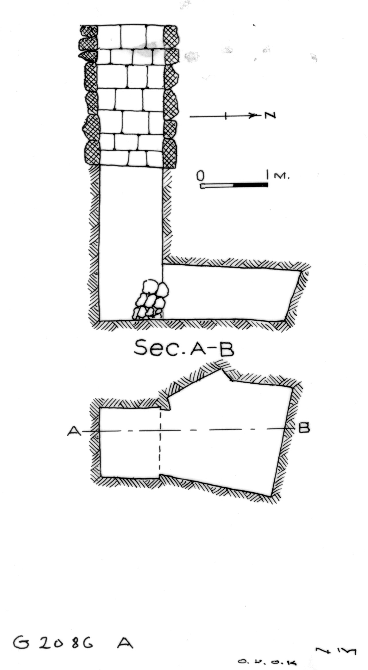 Maps and plans: G 2086, Shaft A