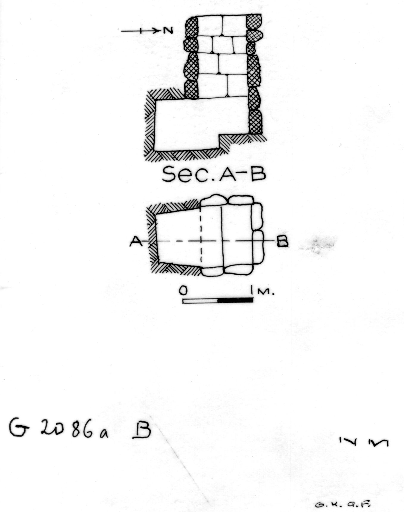 Maps and plans: G 2086a, Shaft B