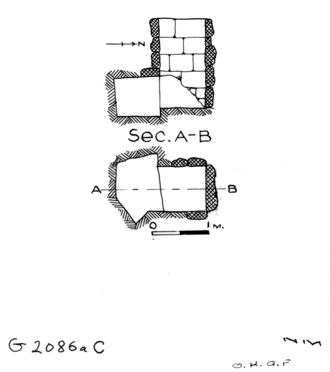 Maps and plans: G 2086a, Shaft C