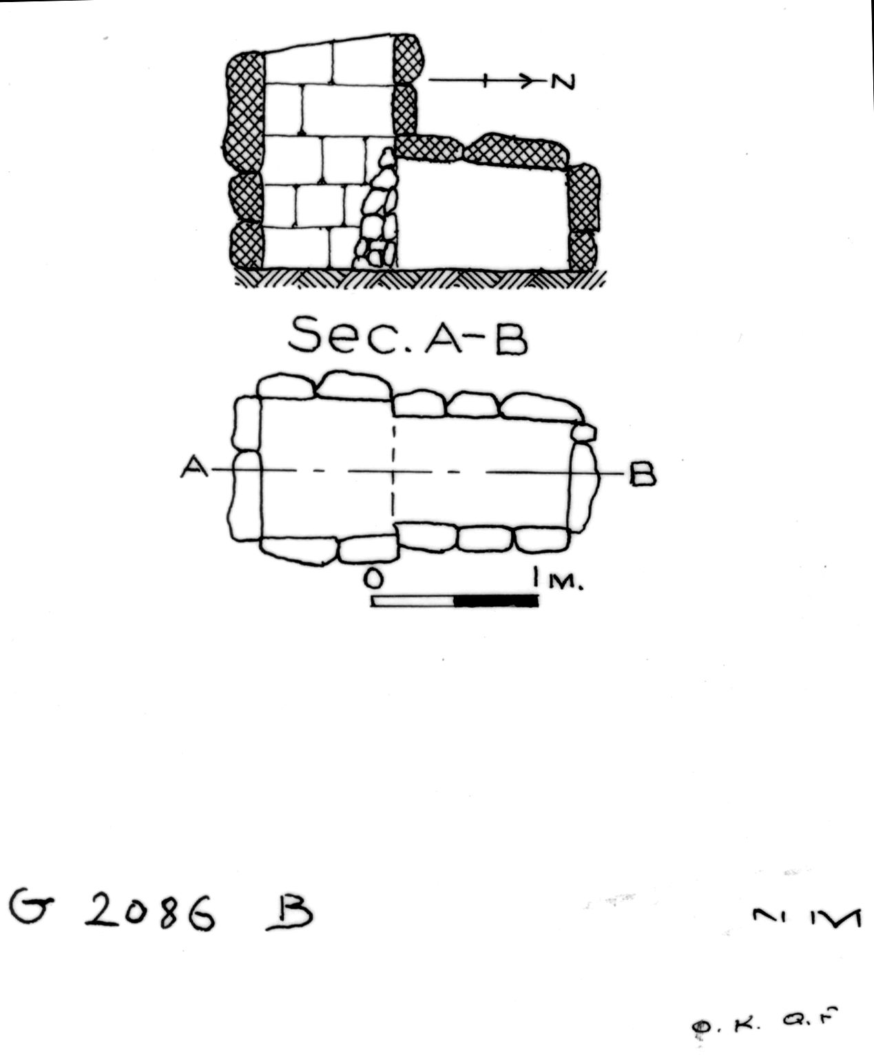 Maps and plans: G 2086, Shaft B