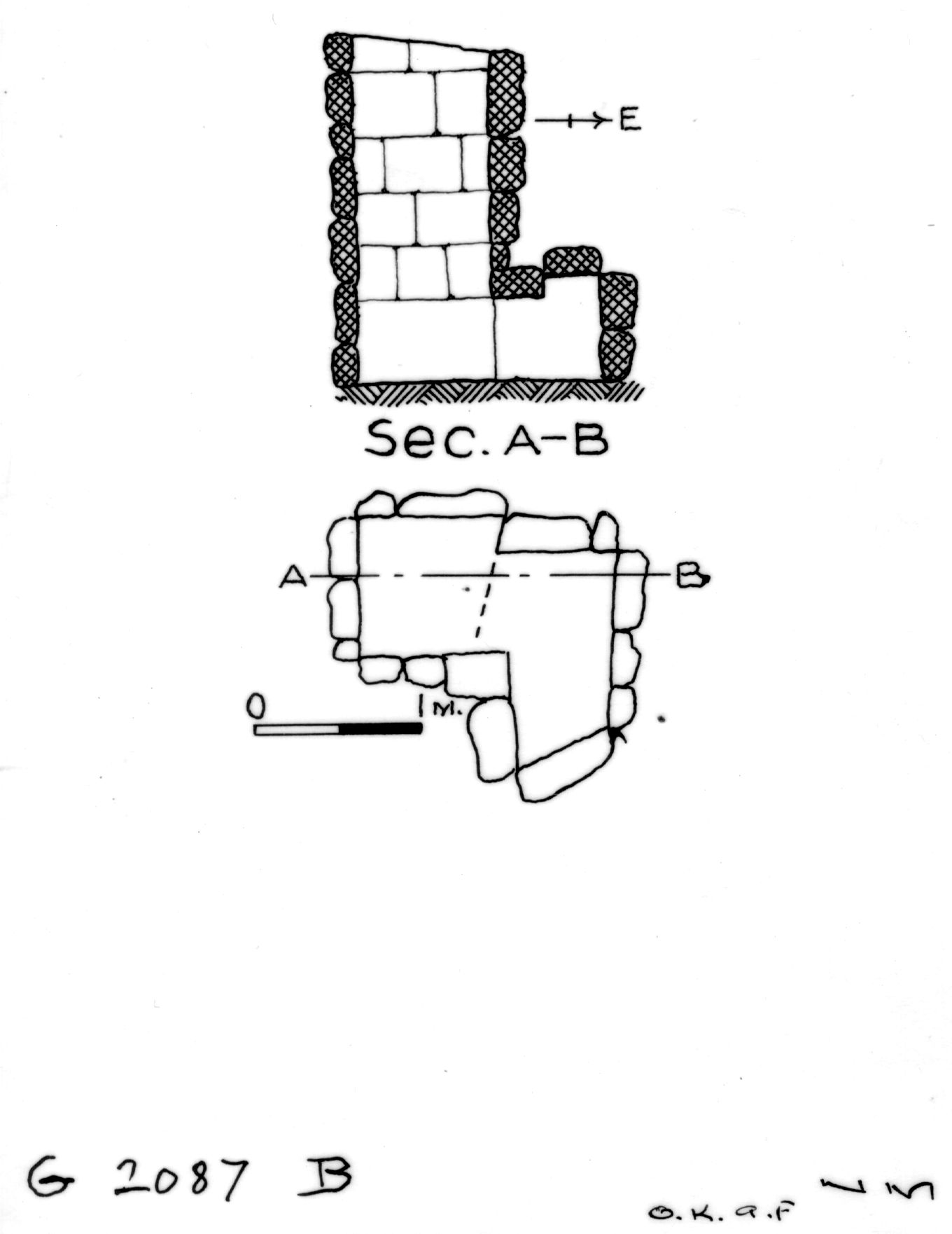 Maps and plans: G 2087, Shaft B