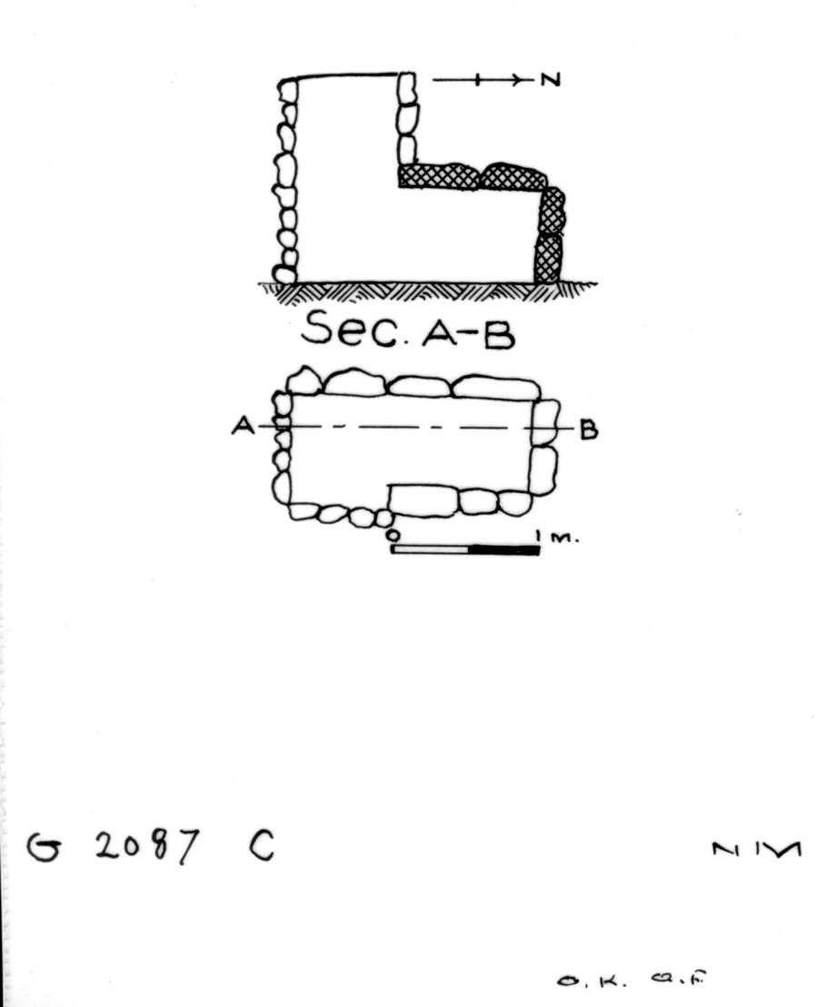Maps and plans: G 2087, Shaft C