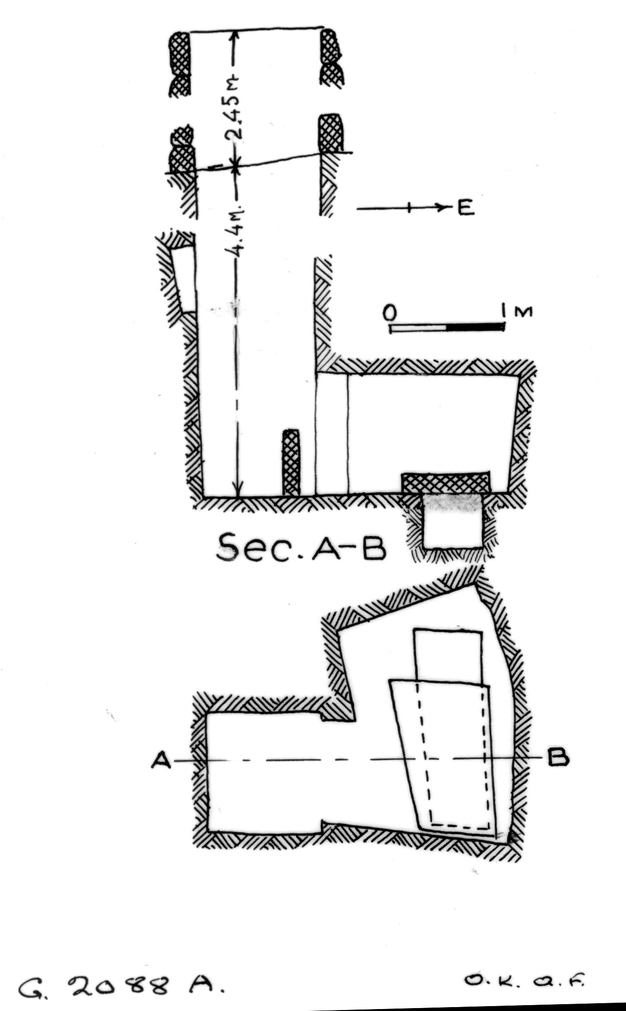 Maps and plans: G 2088, Shaft A