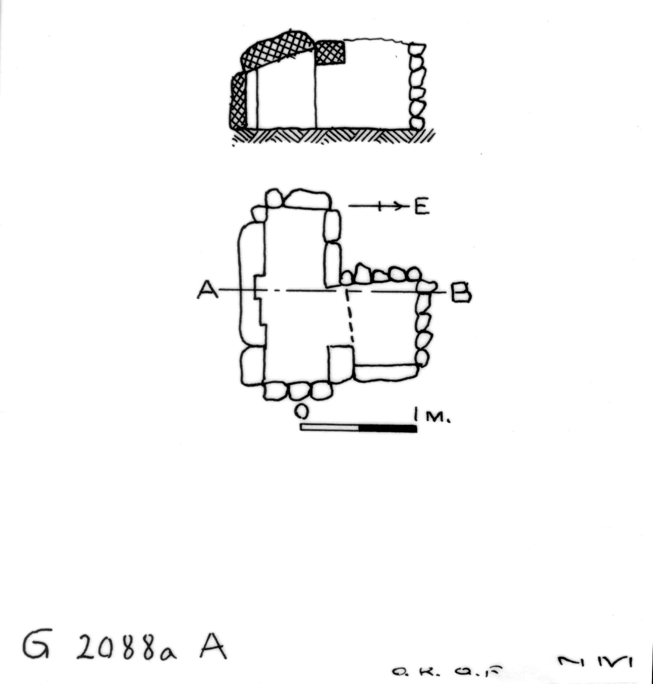 Maps and plans: G 2088a, Shaft A