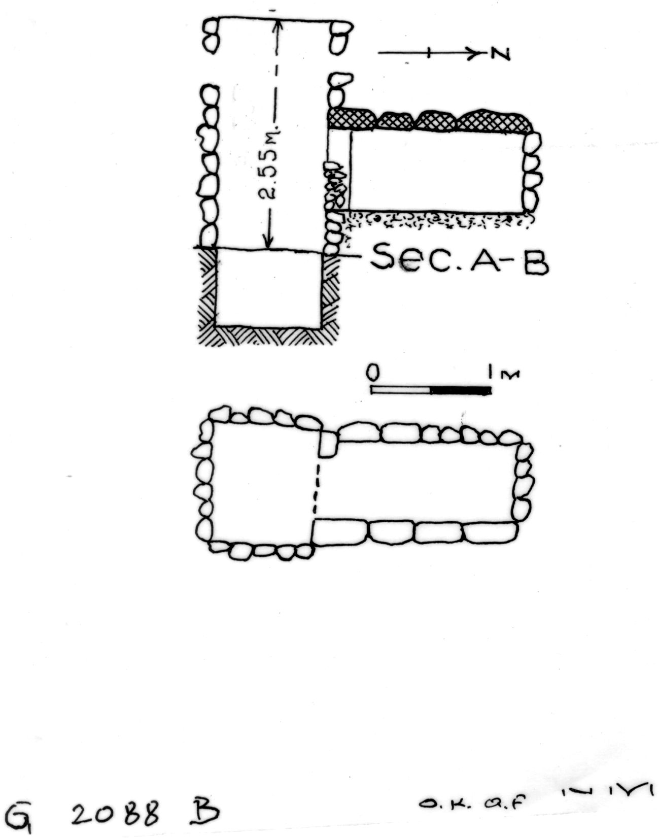 Maps and plans: G 2088, Shaft B