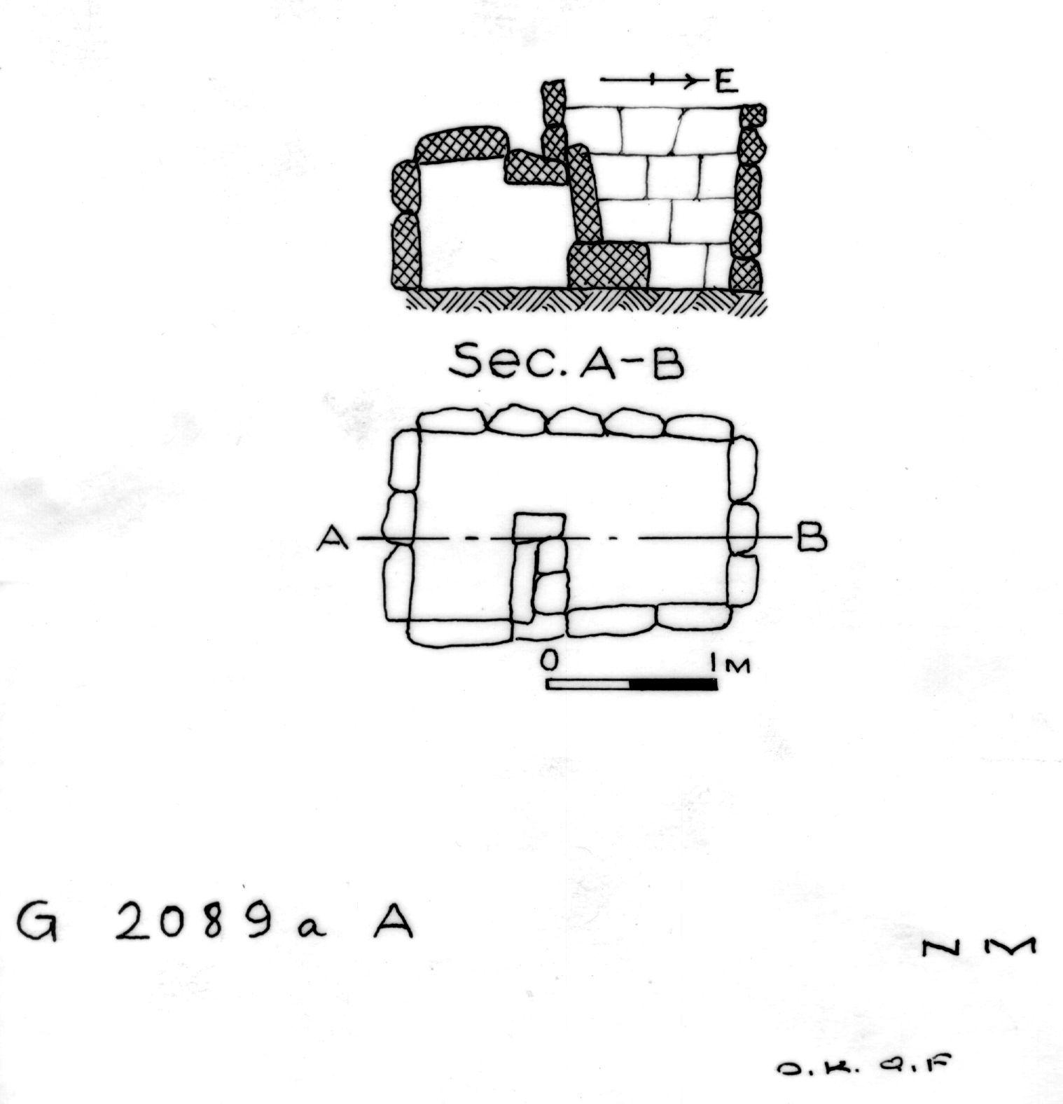 Maps and plans: G 2089a, Shaft A