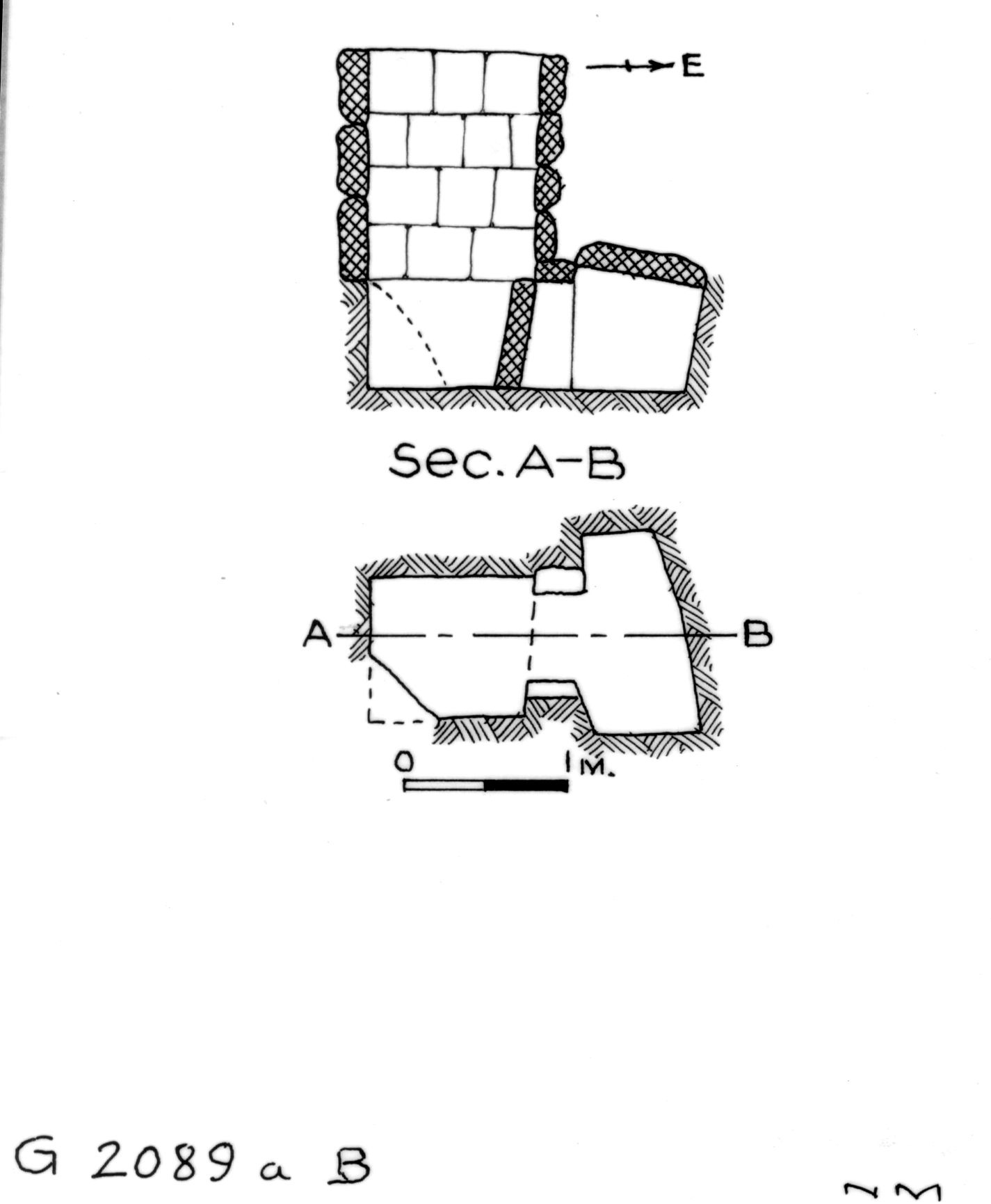 Maps and plans: G 2089a, Shaft B