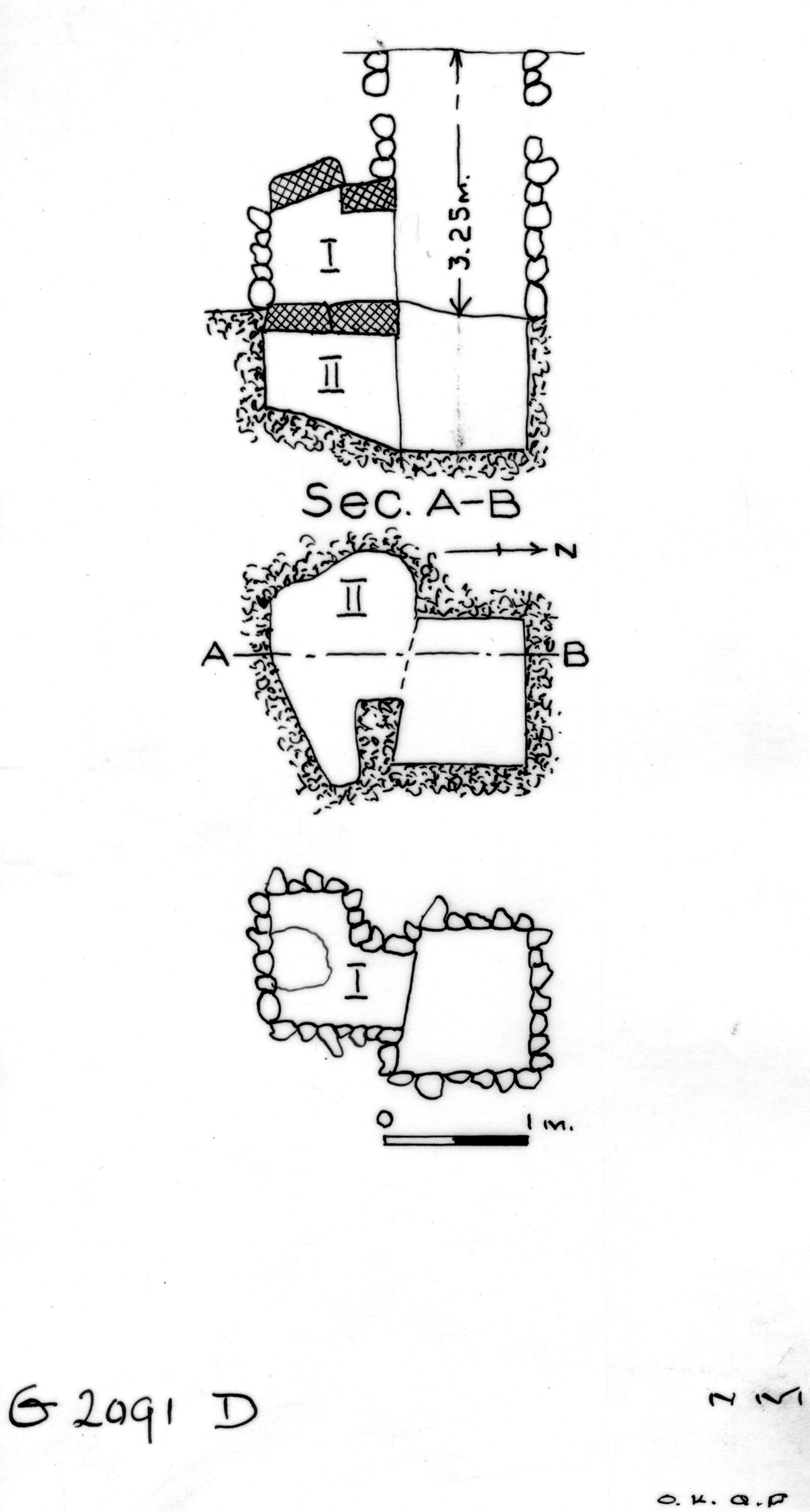 Maps and plans: G 2091, Shaft D