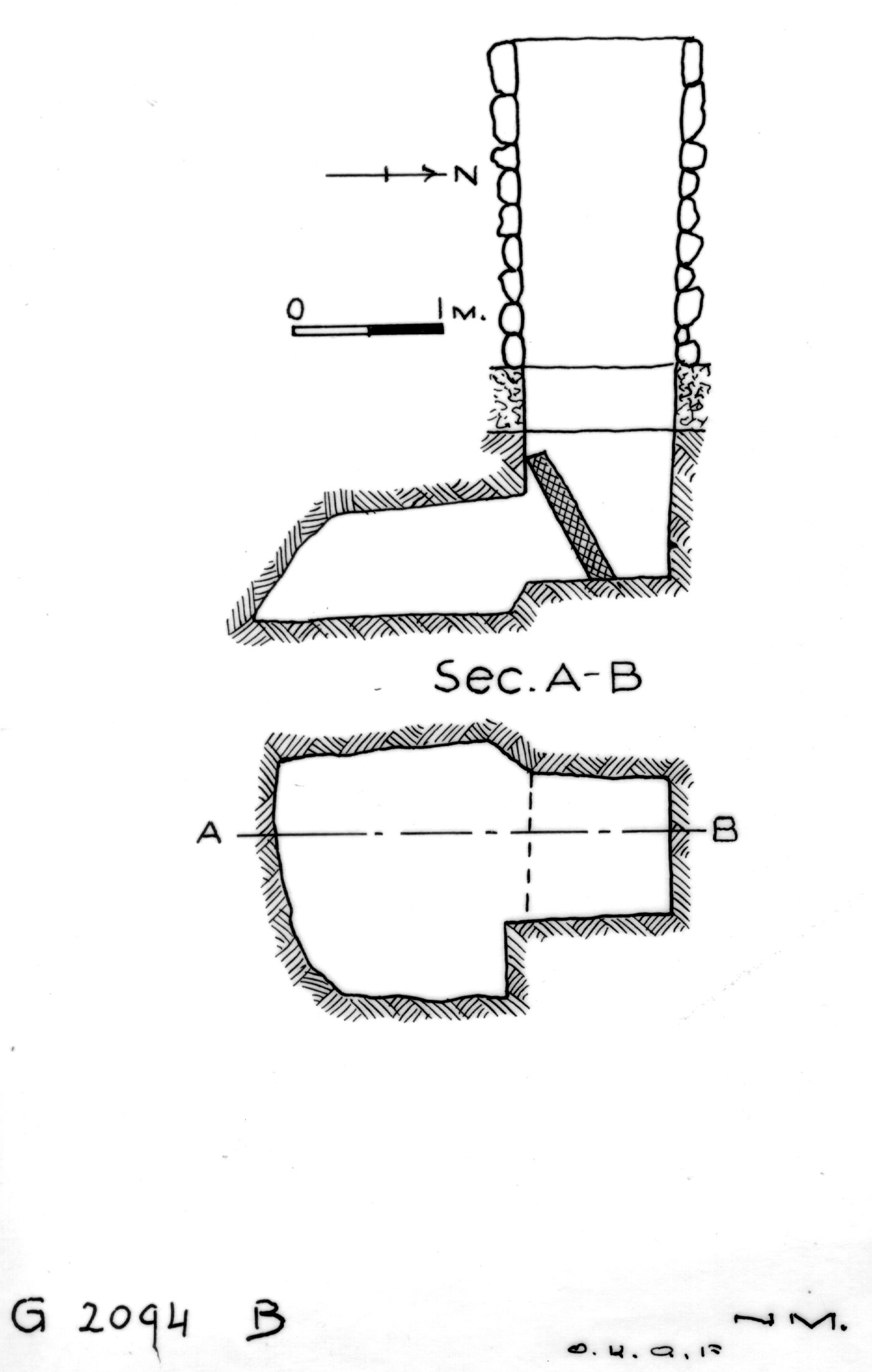 Maps and plans: G 2094, Shaft B