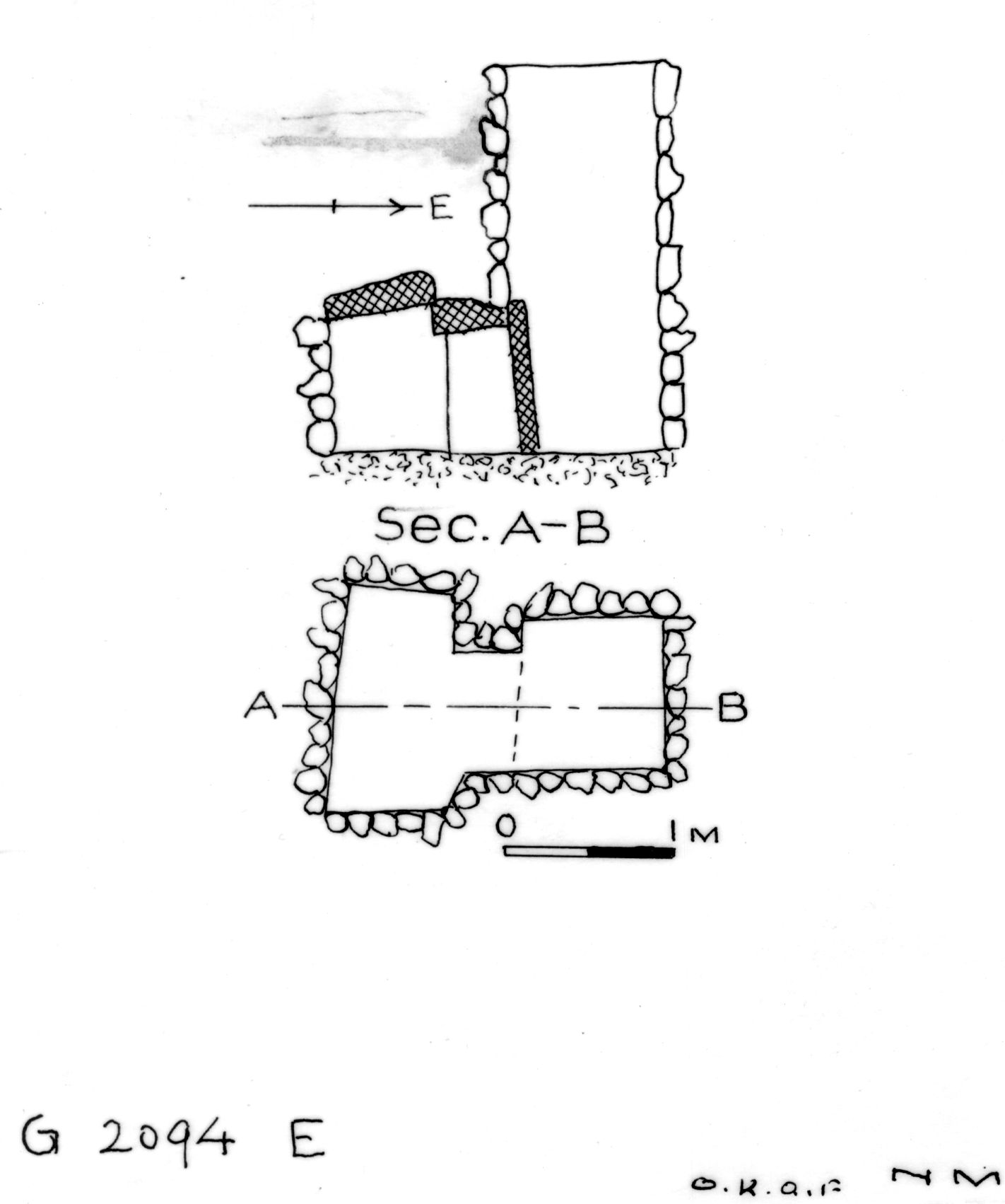 Maps and plans: G 2094, Shaft E