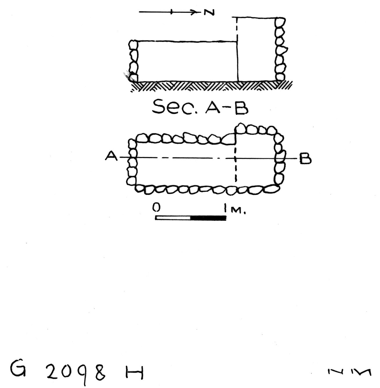 Maps and plans: G 2098, Shaft H