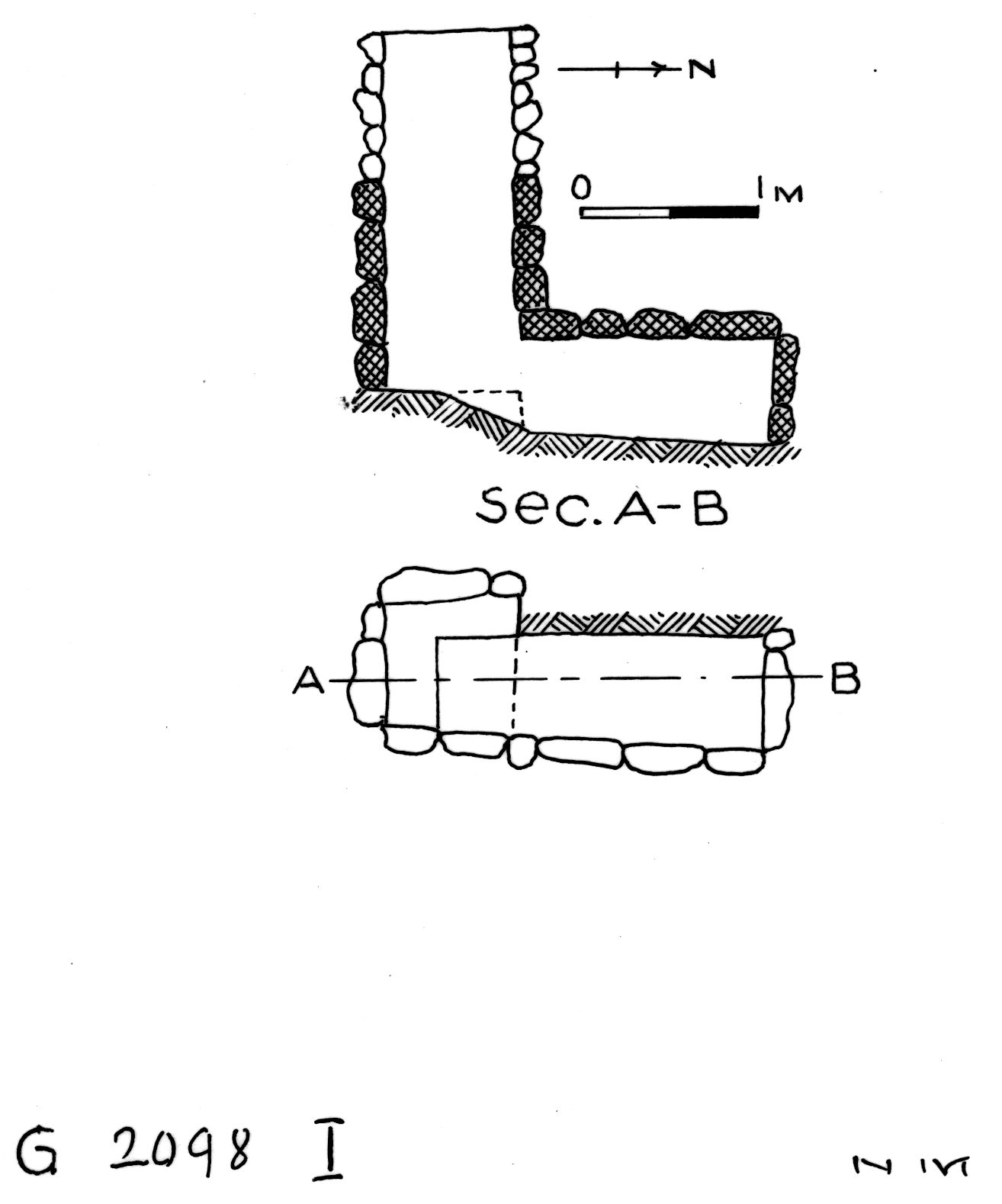 Maps and plans: G 2098, Shaft I