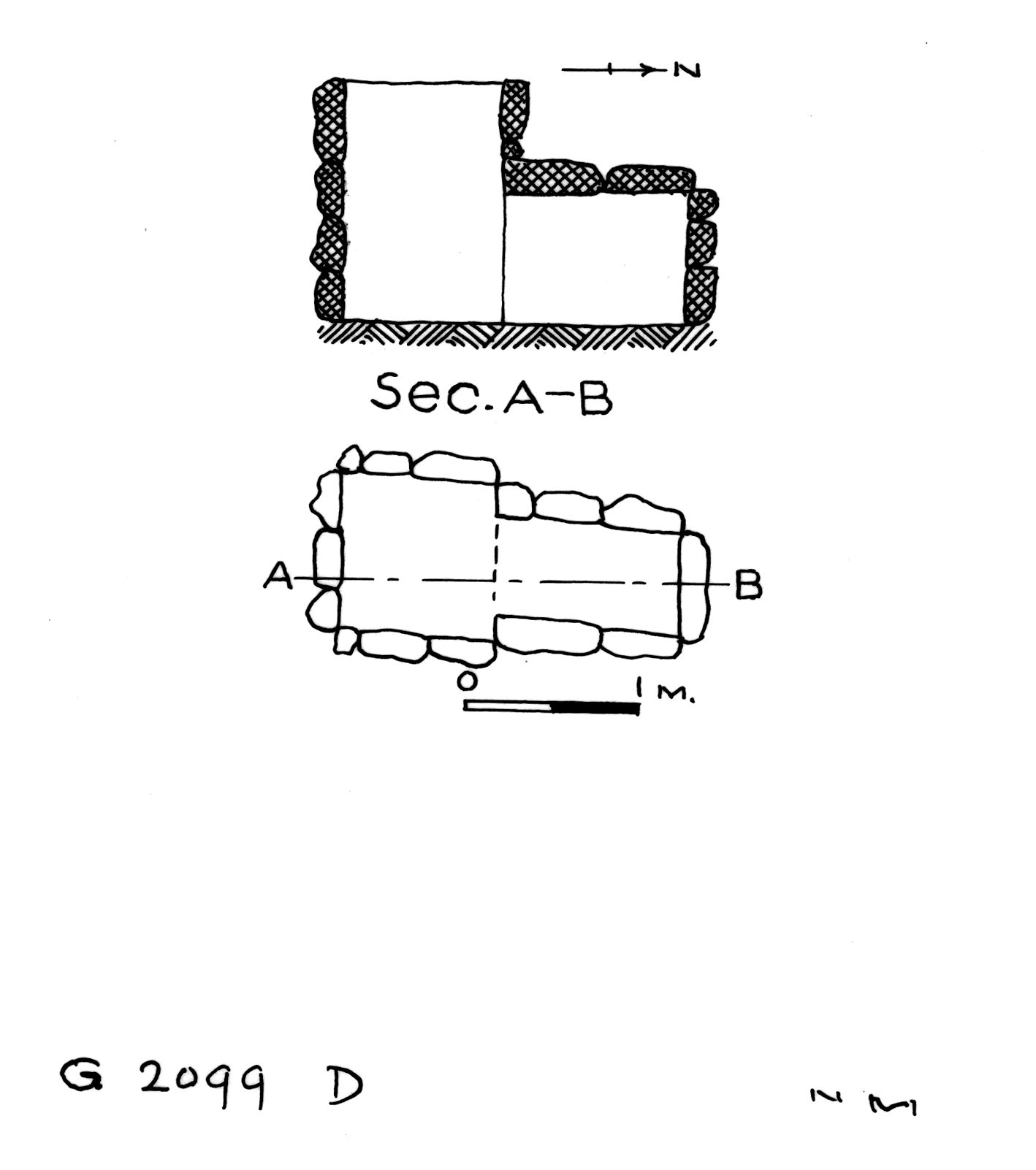 Maps and plans: G 2099, Shaft D