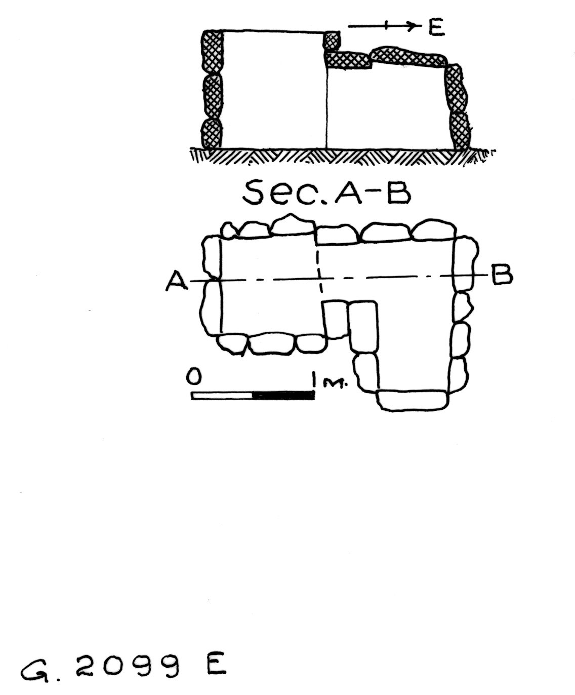 Maps and plans: G 2099, Shaft E