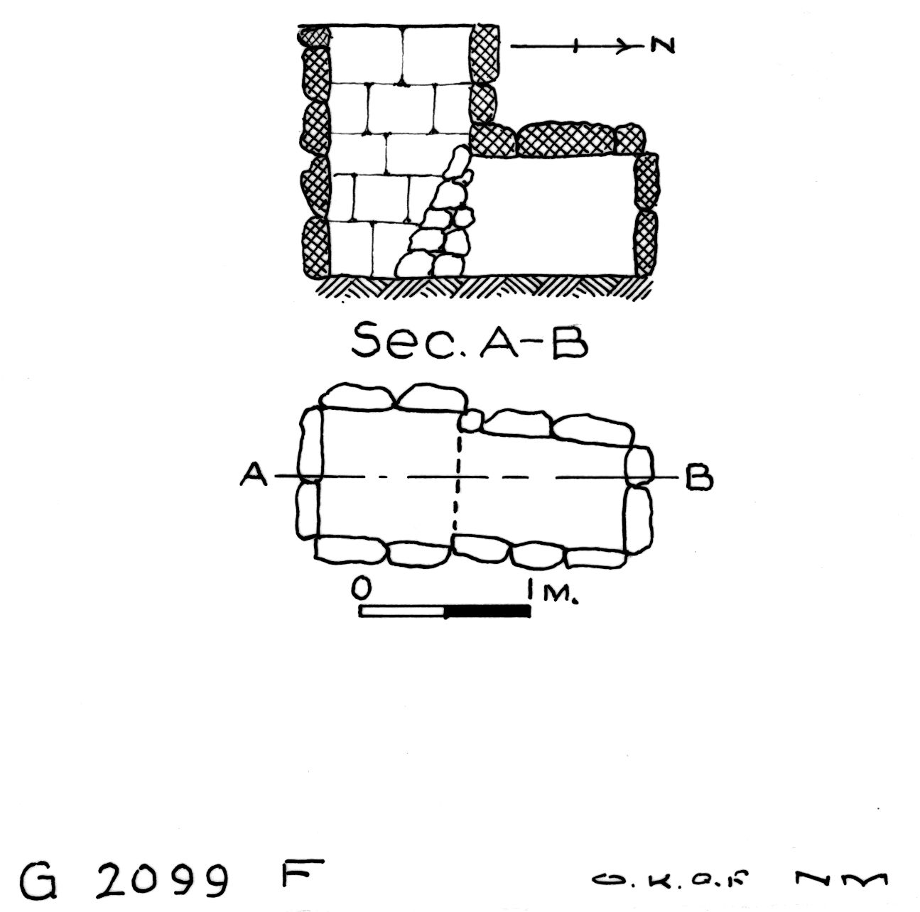 Maps and plans: G 2099, Shaft F