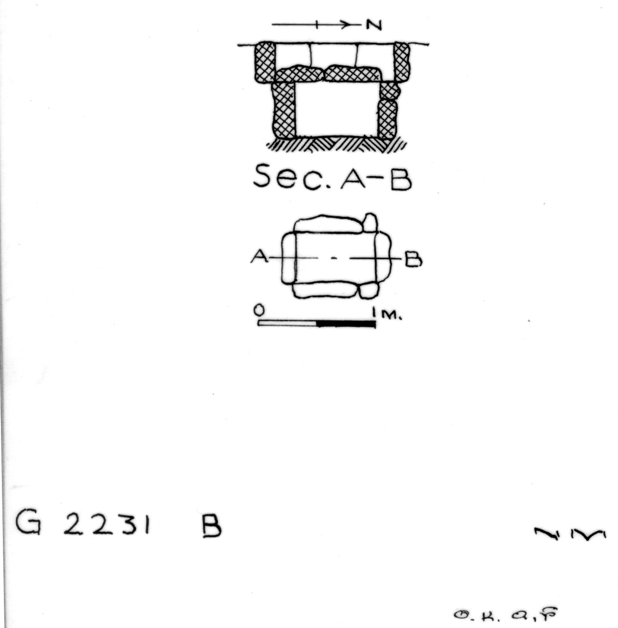 Maps and plans: G 2230+2231: G 2231, Shaft B