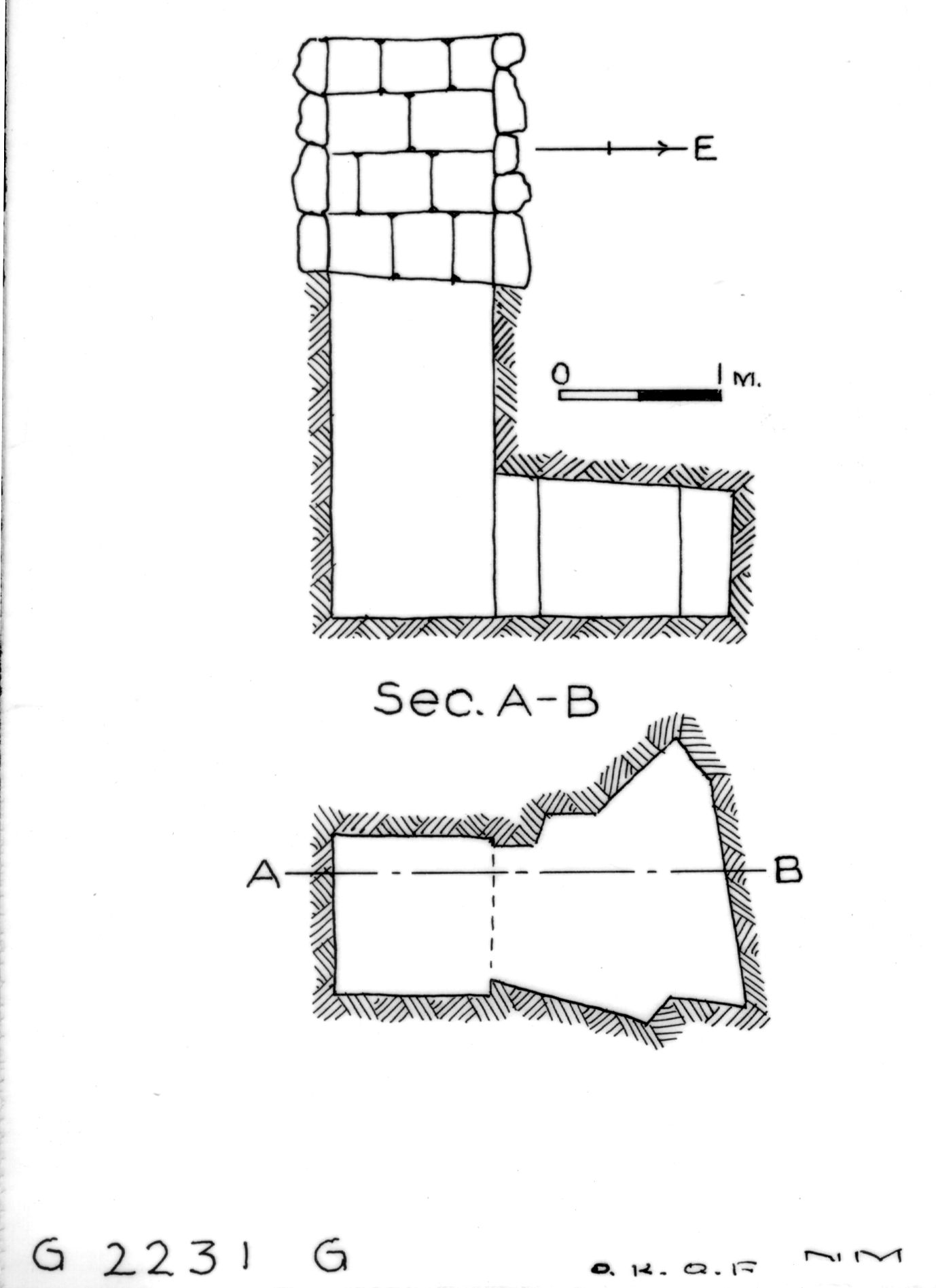 Maps and plans: G 2230+2231: G 2231, Shaft G