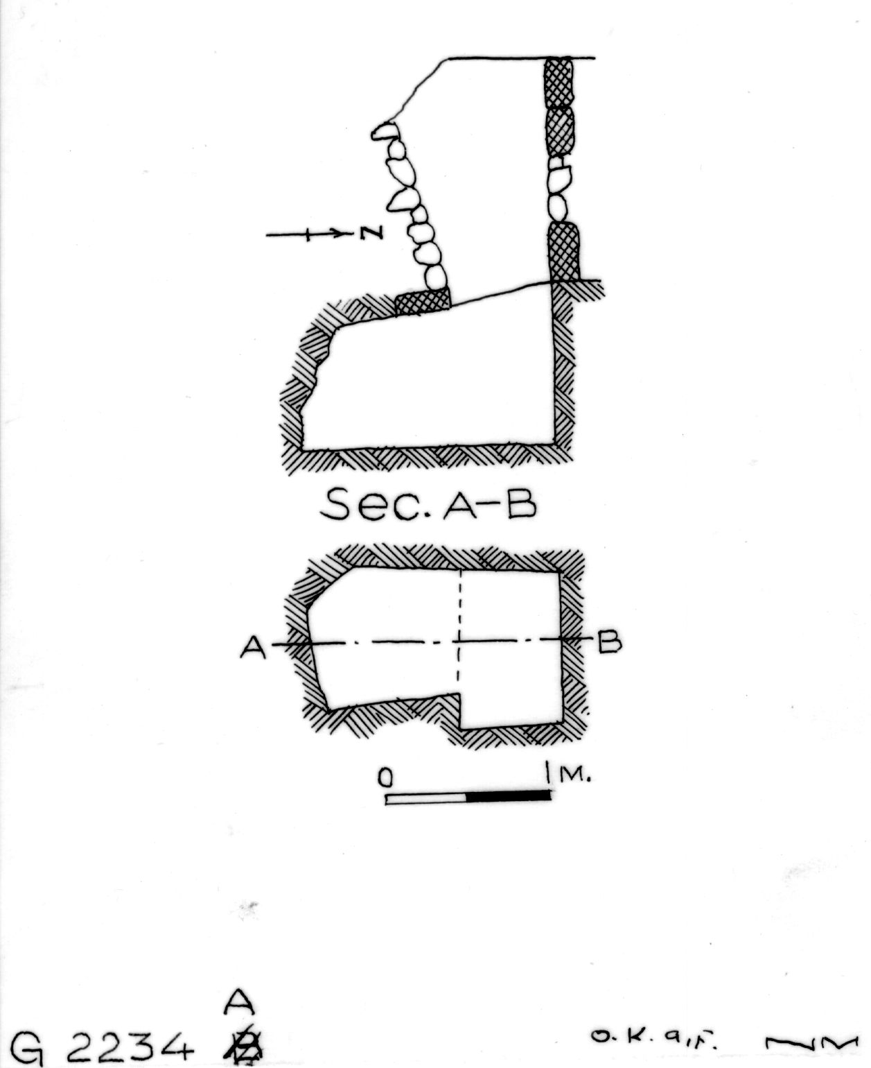 Maps and plans: G 2234, Shaft A