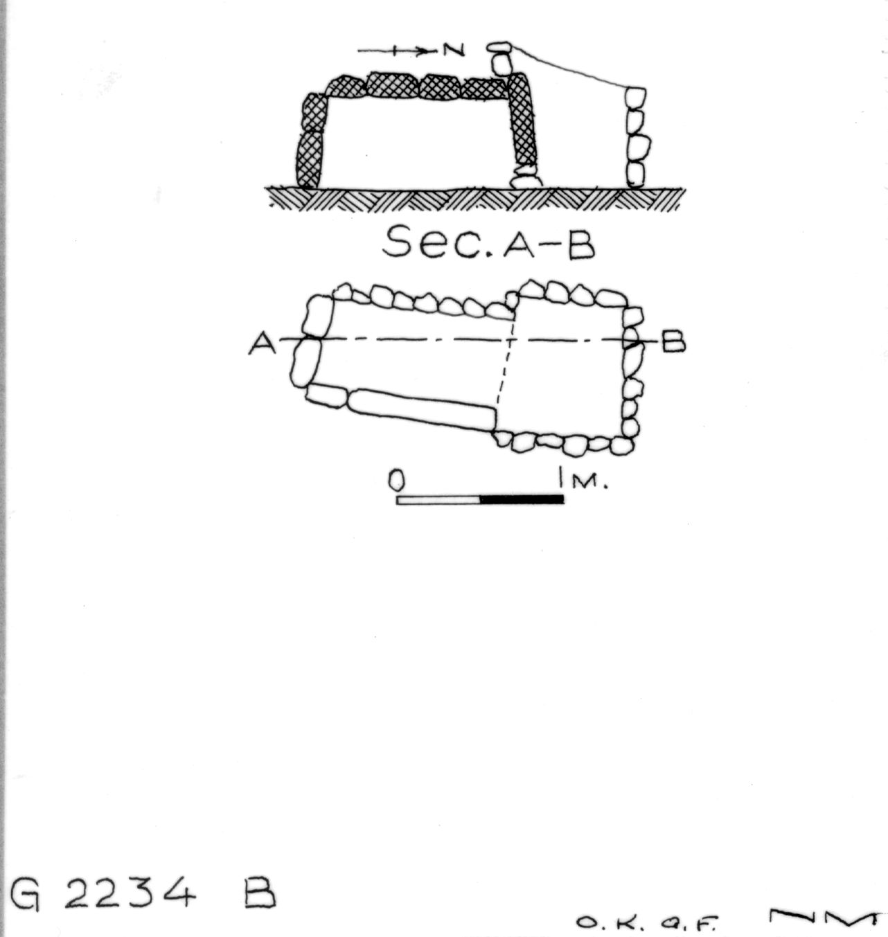 Maps and plans: G 2234, Shaft B