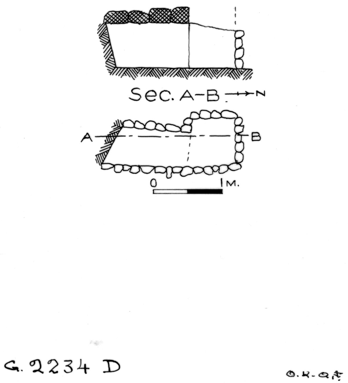 Maps and plans: G 2234, Shaft D