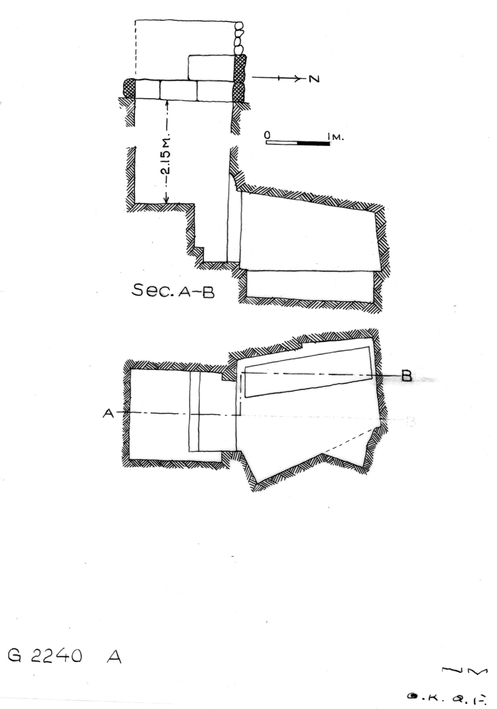 Maps and plans: G 2240, Shaft A